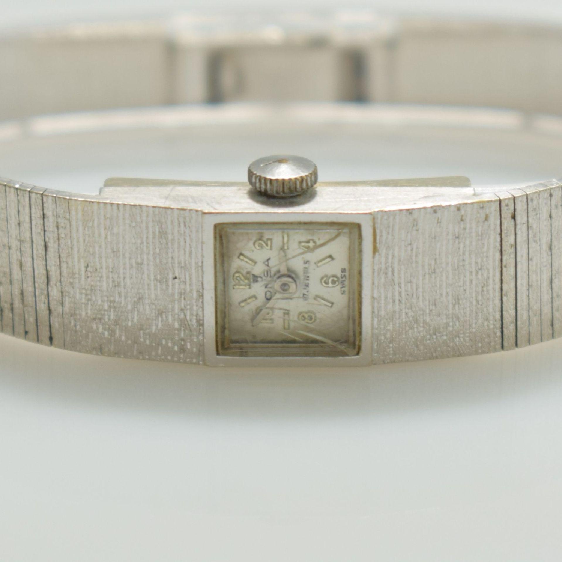 ONSA Damenarmbanduhr in WG 585/000, Schweiz um 1960, Handaufzug, Boden gedr., Band in WG 585/000, - Bild 2 aus 6