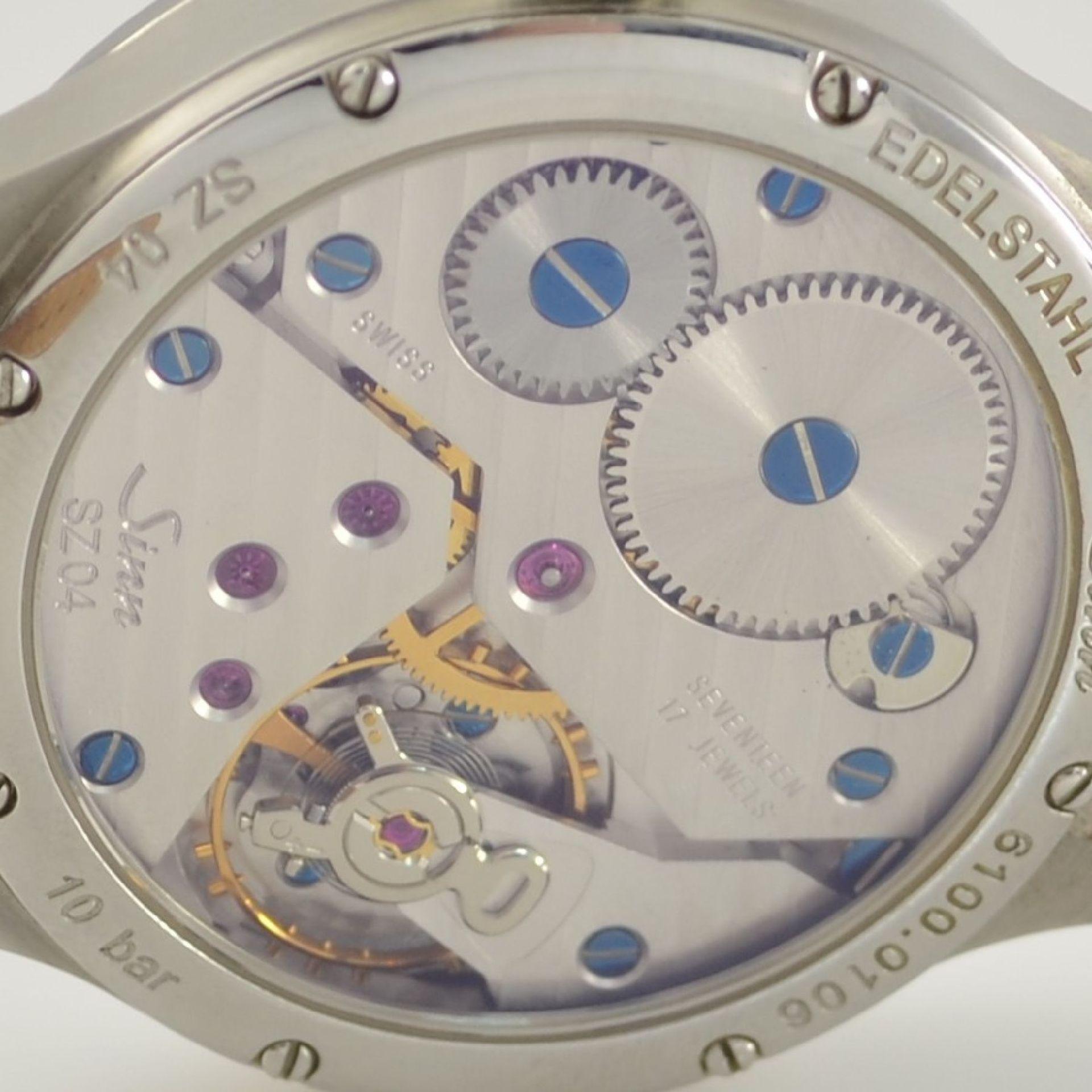 SINN Regulateur Herrenarmbanduhr in Stahl, Schweiz lt. beiliegendem orig. Papier verk. 12/2006, - Bild 8 aus 9
