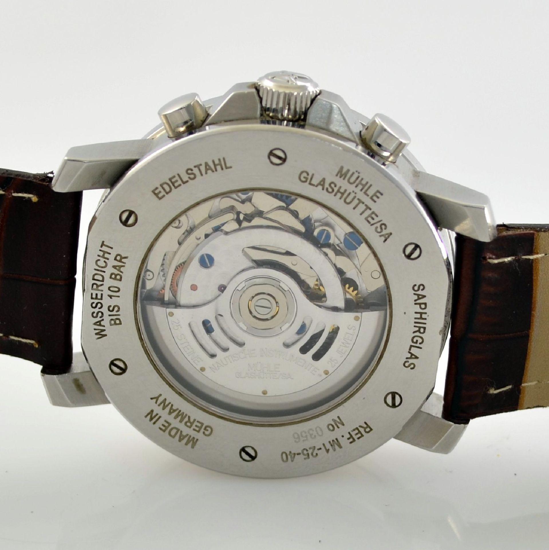 MÜHLE Glashütte/SA Nautische Instrumente Herrenarmbanduhr 29ER Chronograph in Stahl, Deutschland - Bild 5 aus 6