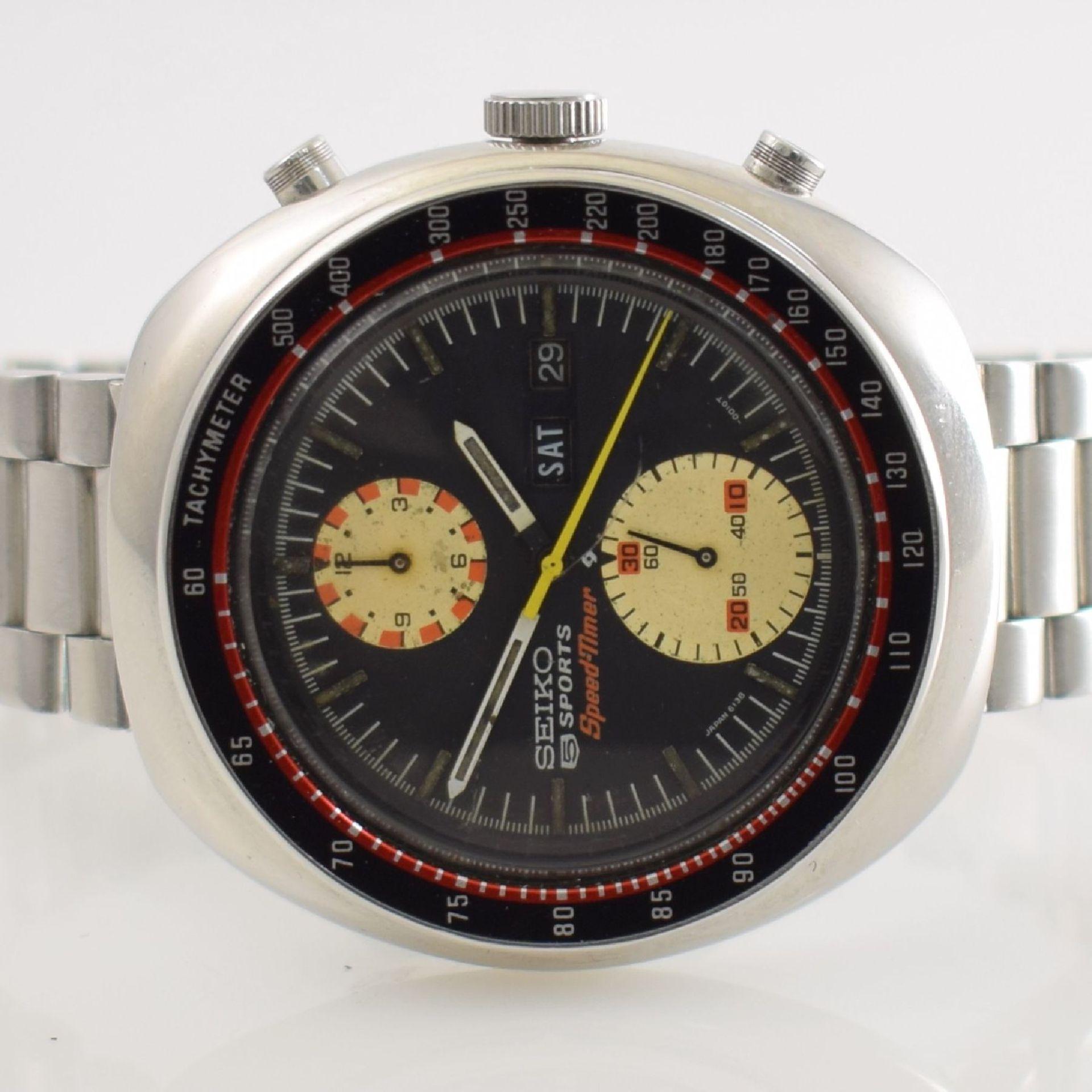 SEIKO 5 Sports Schaltradchronograph Speed-Timer, Automatik, Japan für den dtsch. Markt um 1970, Ref. - Bild 2 aus 8