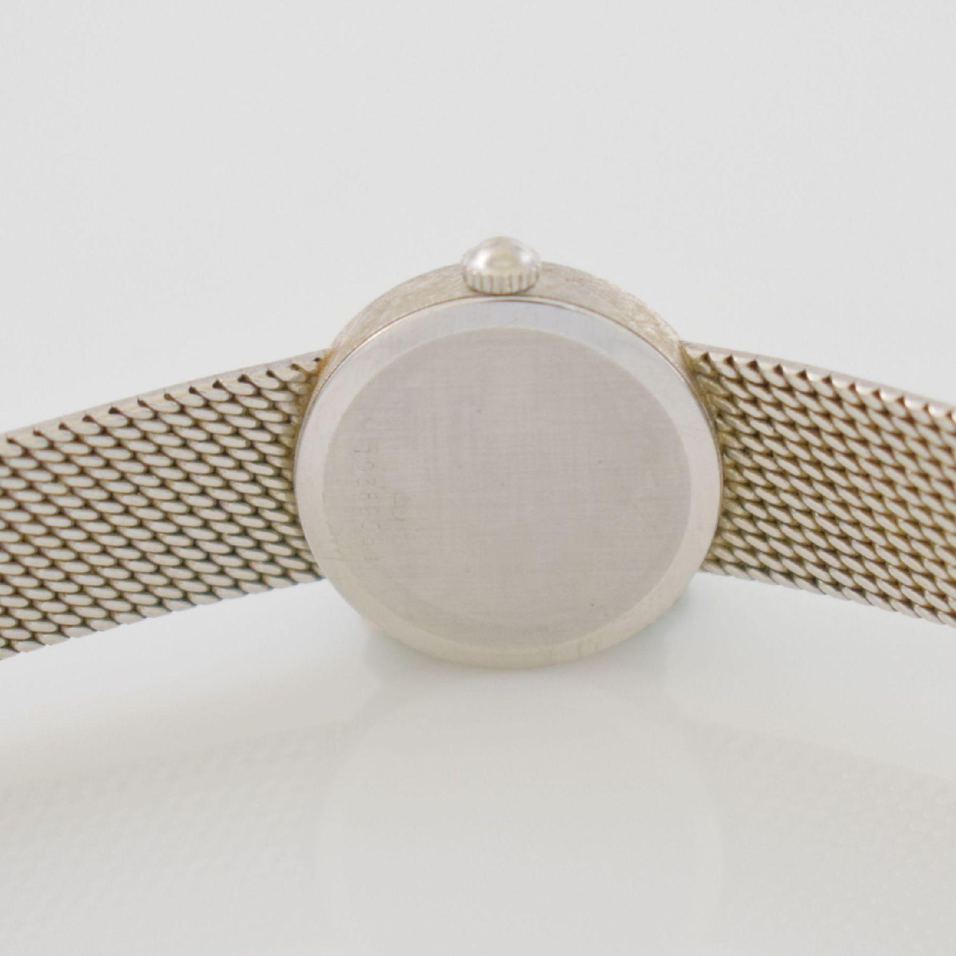 LONGINES Damenarmbanduhr in WG 750/000 mit WG 750/000 Band, Schweiz um 1980, Boden gedr., silb. - Bild 6 aus 7