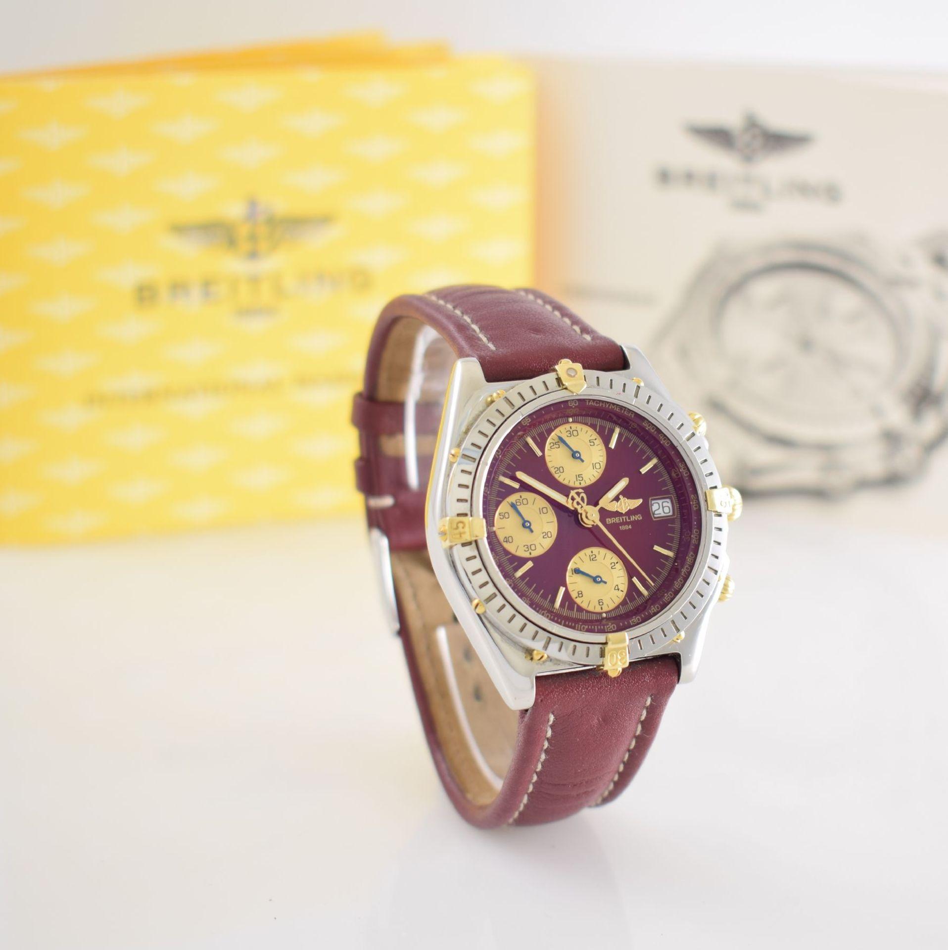 BREITLING Chronomat Herrenarmbanduhr mit Chronograph, Schweiz verk. lt. beil orig. Garantiekarte - Bild 6 aus 8