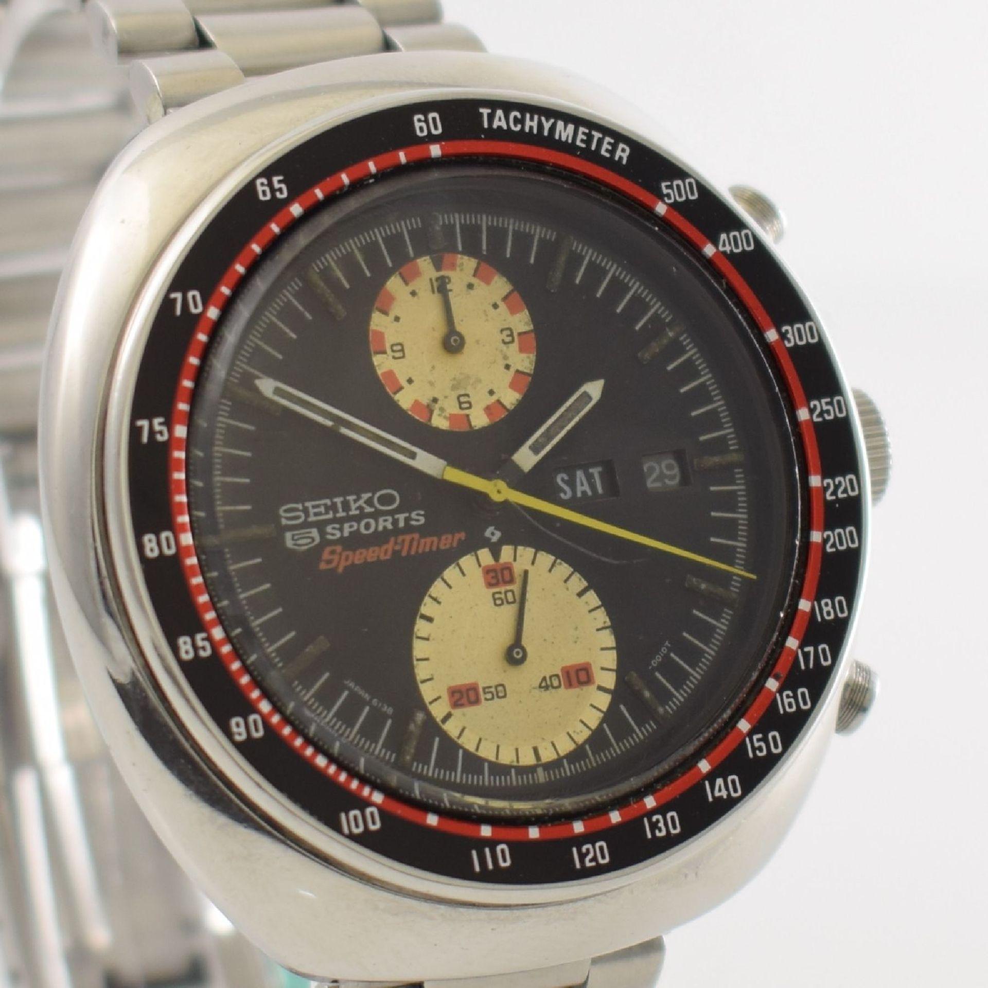 SEIKO 5 Sports Schaltradchronograph Speed-Timer, Automatik, Japan für den dtsch. Markt um 1970, Ref. - Bild 6 aus 8