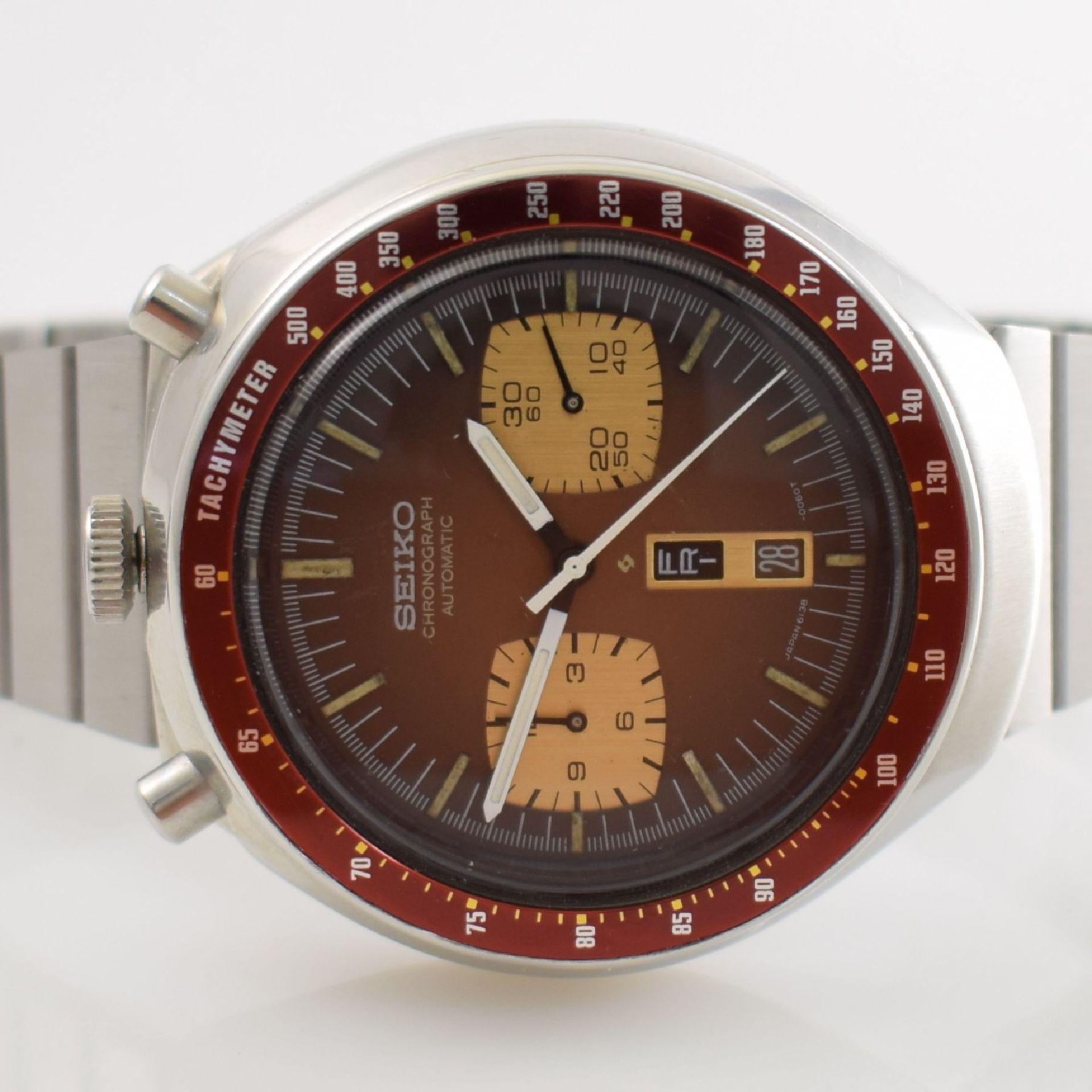 SEIKO sog. BULLHEAD Armbandchronograph, Japan um 1970, Automatik, Ref. 6138-0040, verschr. - Bild 2 aus 7