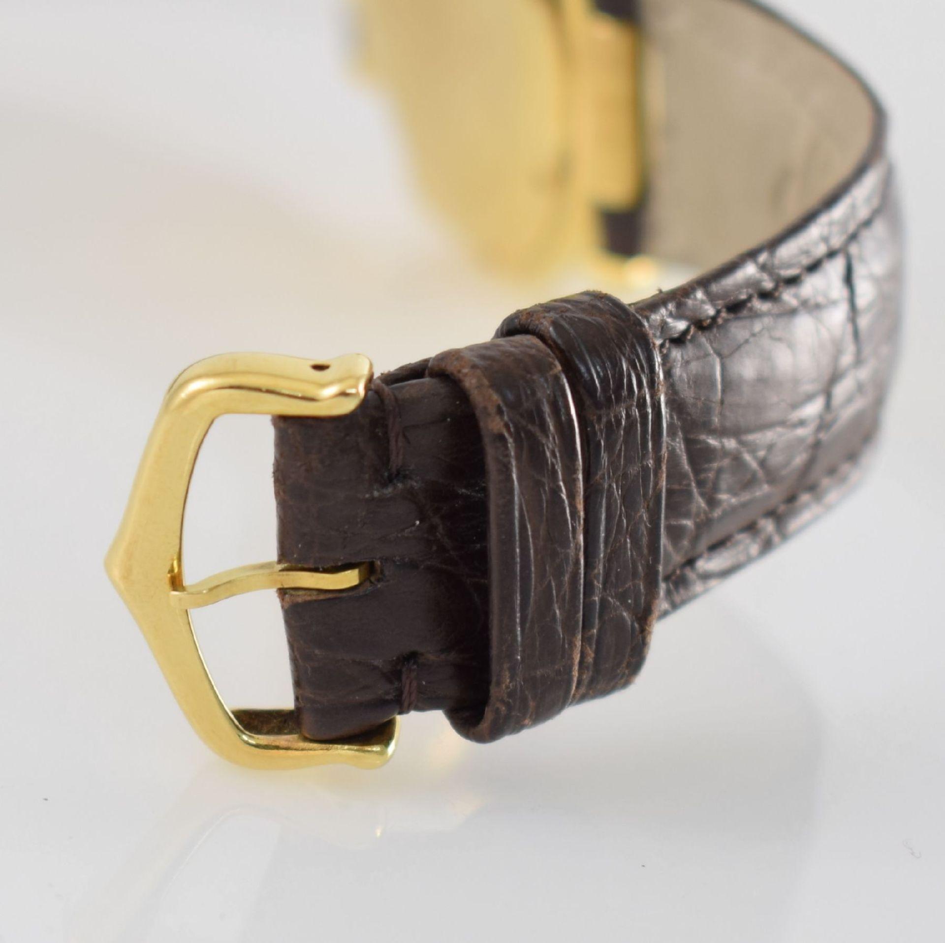 CARTIER Armbanduhr Serie Pasha in GG 750/000, Automatik, Schweiz um 1990, Ref. 1991, Lederband m. - Bild 6 aus 7