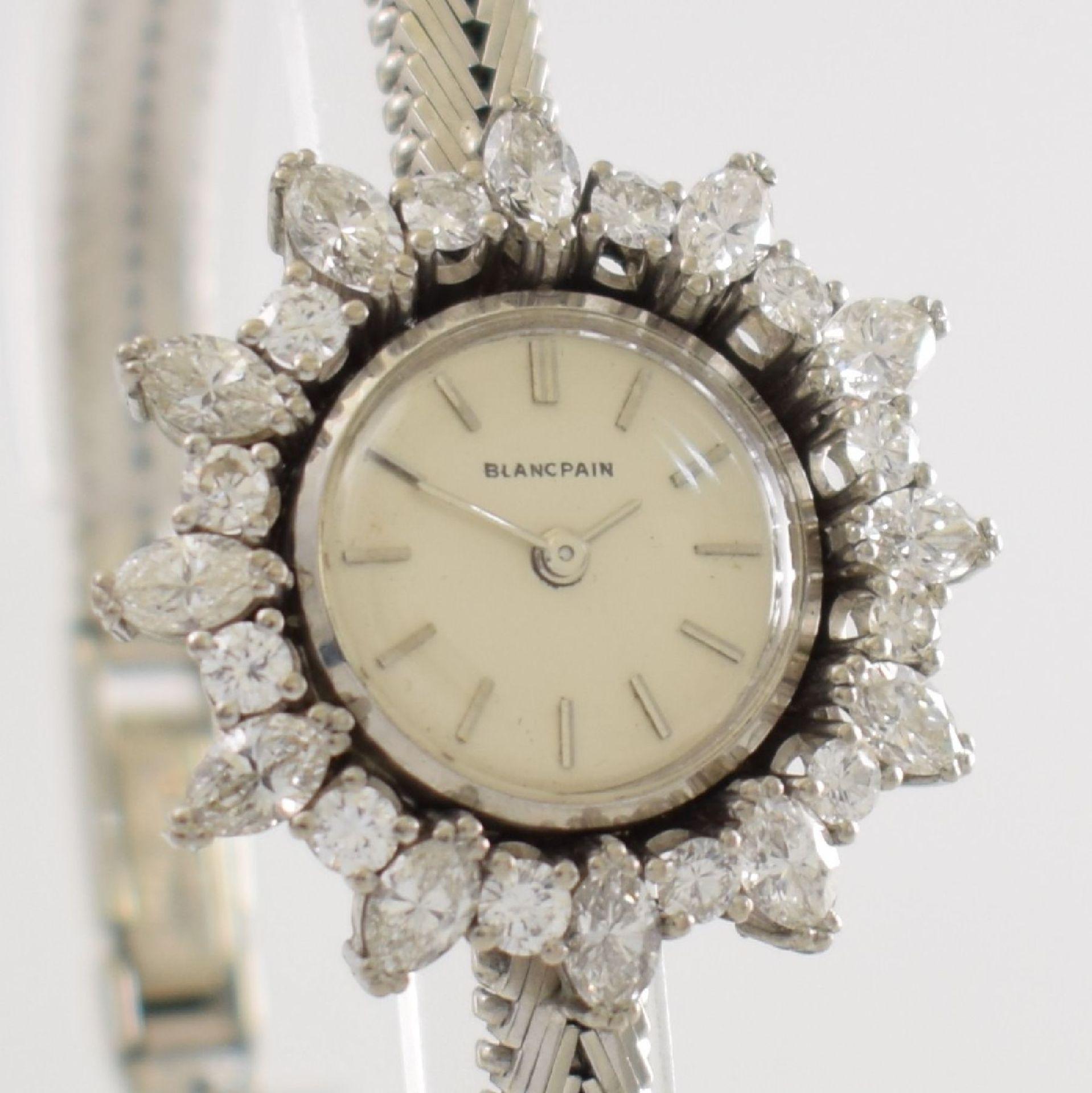 BLANCPAIN ausgefallene Damenarmbanduhr in WG 750/000 mit Diamantenbesatz zus. ca. 2,5 ct, Schweiz - Bild 6 aus 8