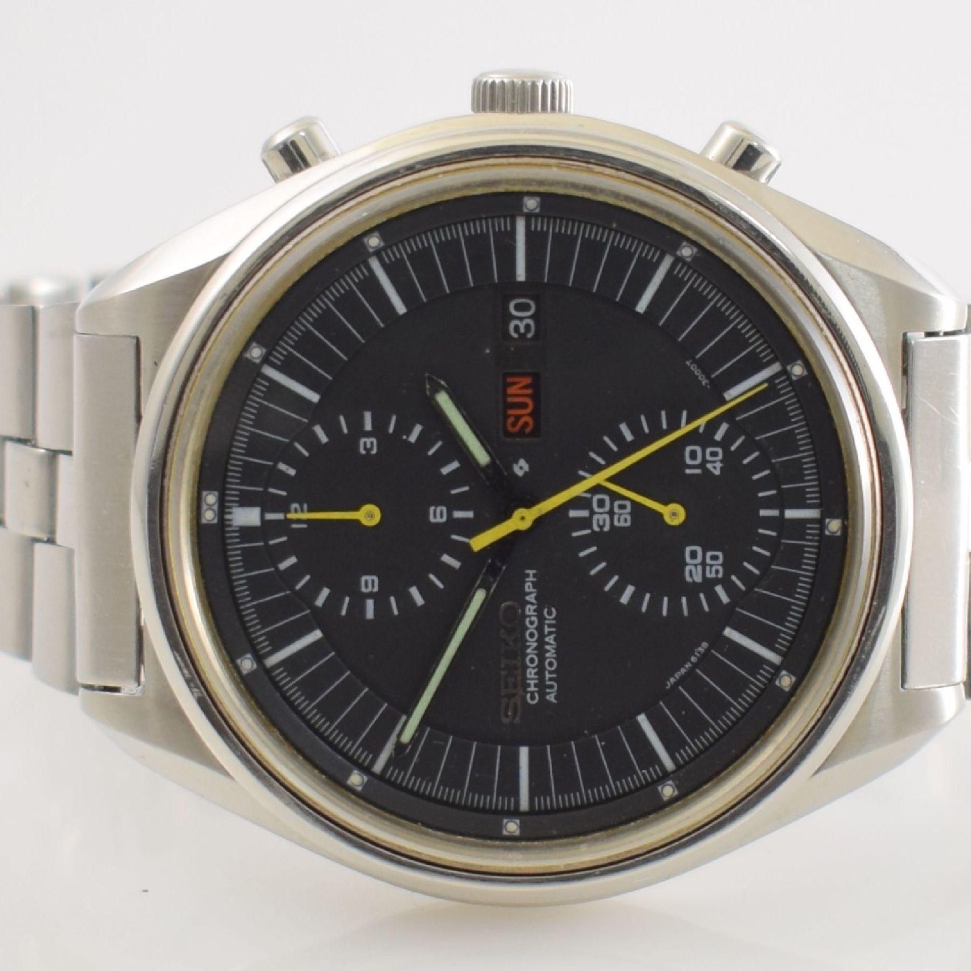 SEIKO Herrenarmbanduhr mit Chronograph in Stahl, Japan um 1975, Automatik, Ref. 6138- 3002, verschr. - Bild 2 aus 6