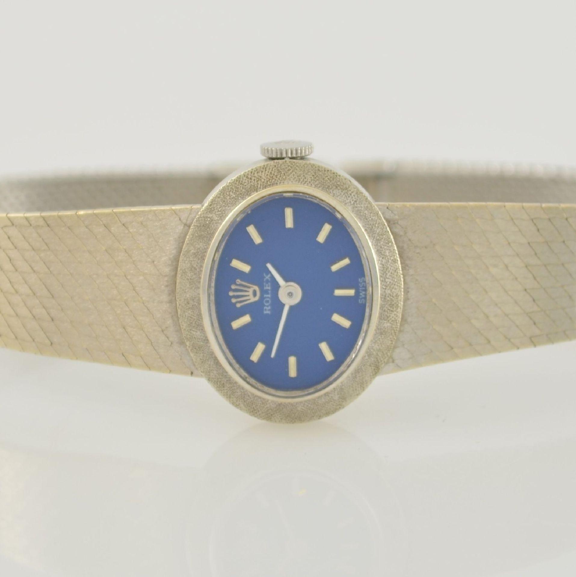 ROLEX Damenarmbanduhr in WG 750/000, Schweiz 1960er Jahre, Handaufzug, Boden aufgedr., - Bild 2 aus 6