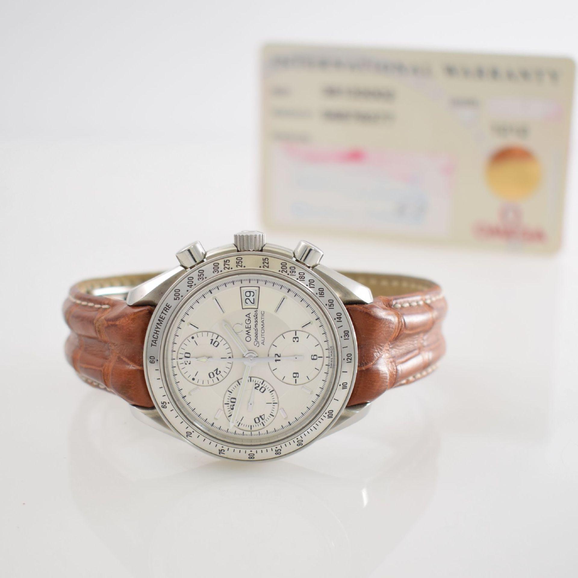 OMEGA Armbandchronograph Serie Speedmaster, Automatik, Schweiz um 1998, Ref. 1750083/3750083,