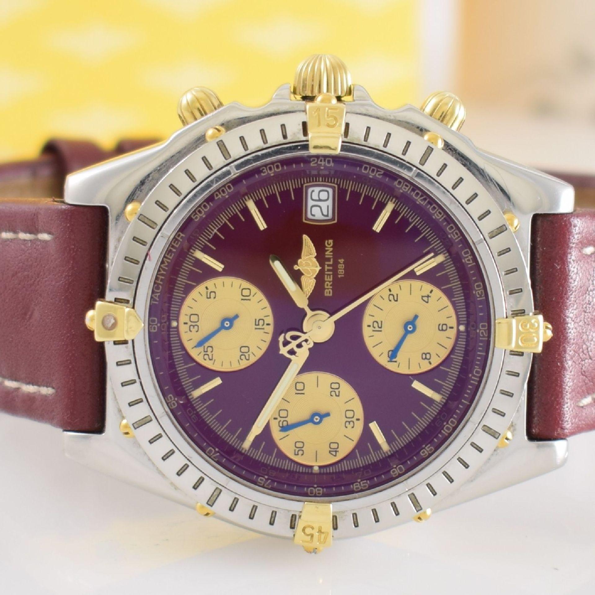 BREITLING Chronomat Herrenarmbanduhr mit Chronograph, Schweiz verk. lt. beil orig. Garantiekarte - Bild 3 aus 8