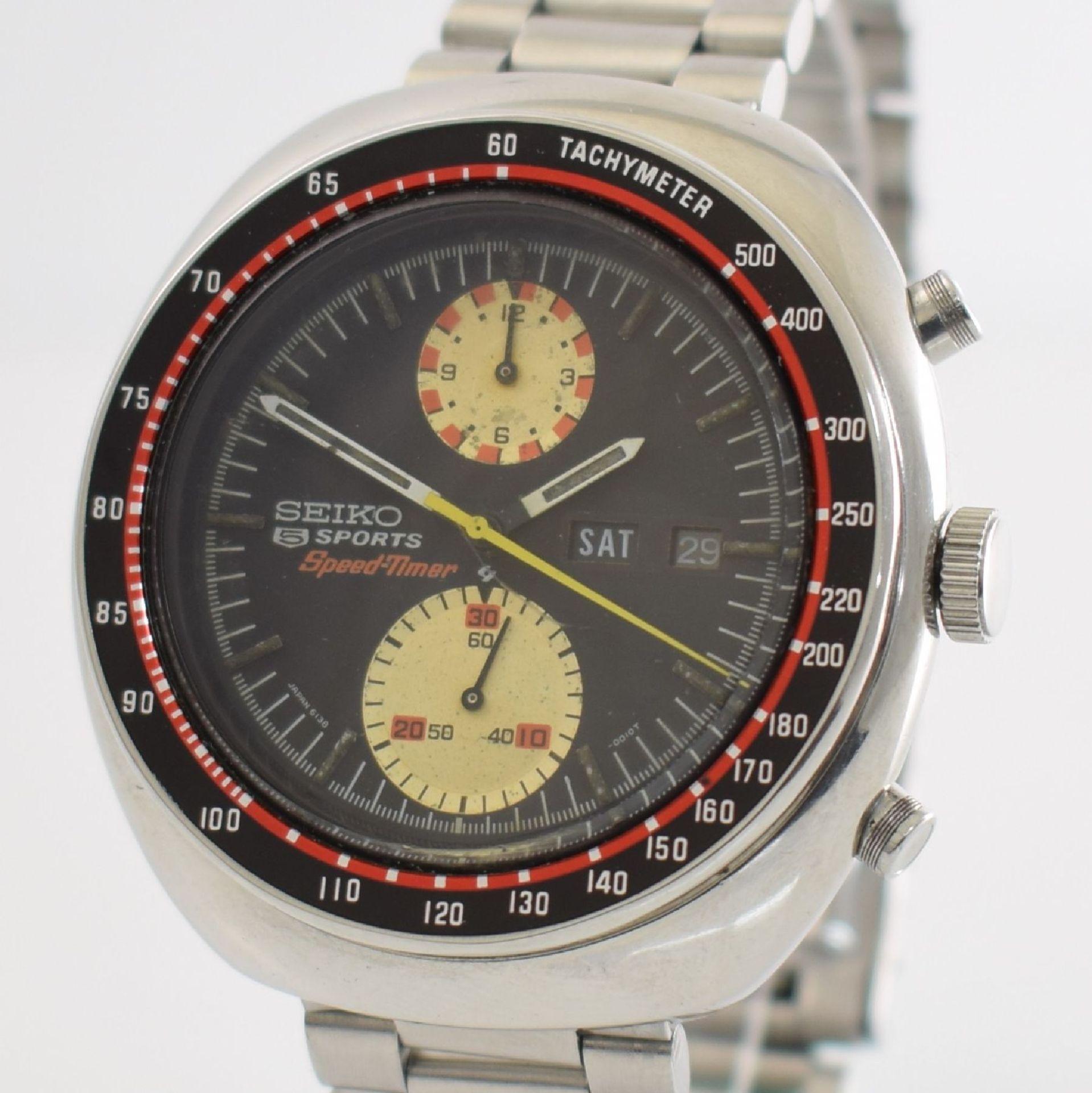 SEIKO 5 Sports Schaltradchronograph Speed-Timer, Automatik, Japan für den dtsch. Markt um 1970, Ref. - Bild 4 aus 8