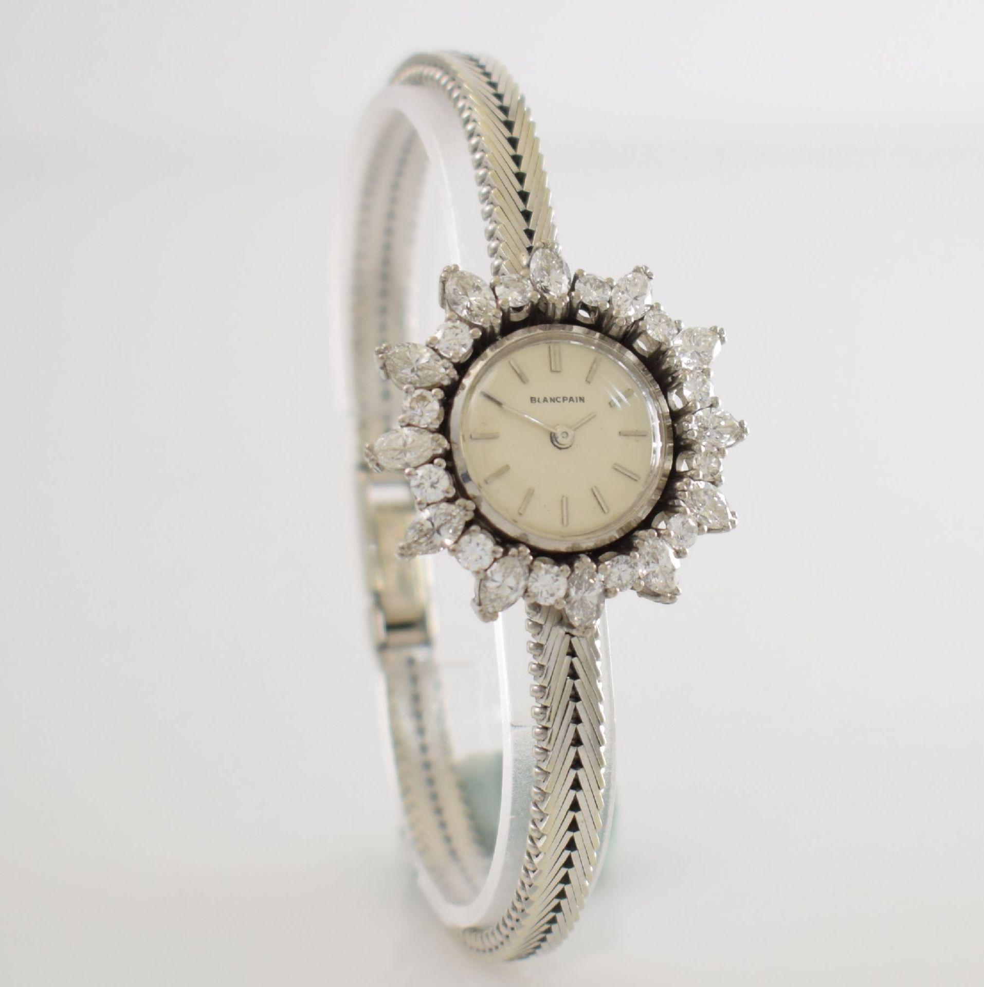 BLANCPAIN ausgefallene Damenarmbanduhr in WG 750/000 mit Diamantenbesatz zus. ca. 2,5 ct, Schweiz - Bild 5 aus 8