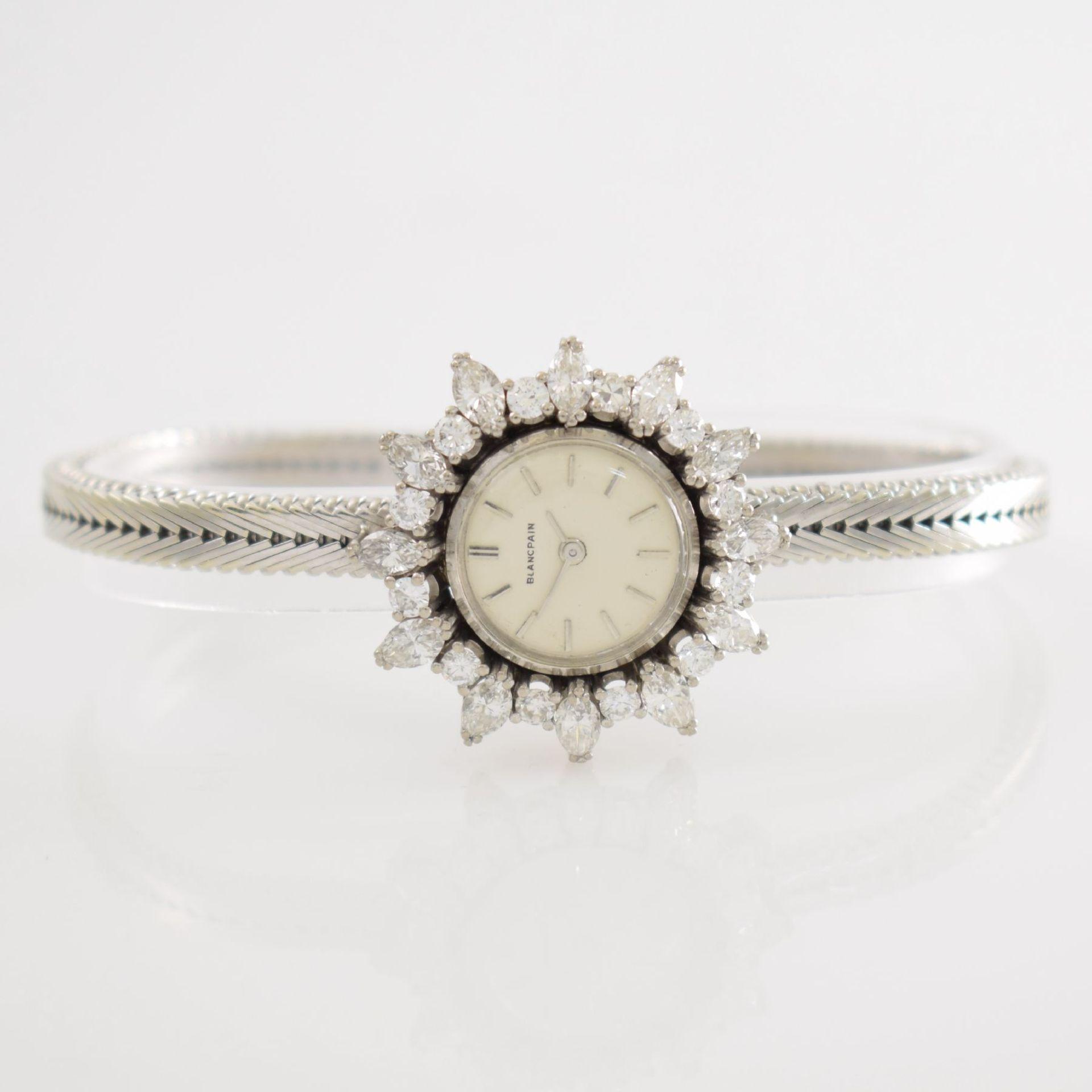 BLANCPAIN ausgefallene Damenarmbanduhr in WG 750/000 mit Diamantenbesatz zus. ca. 2,5 ct, Schweiz