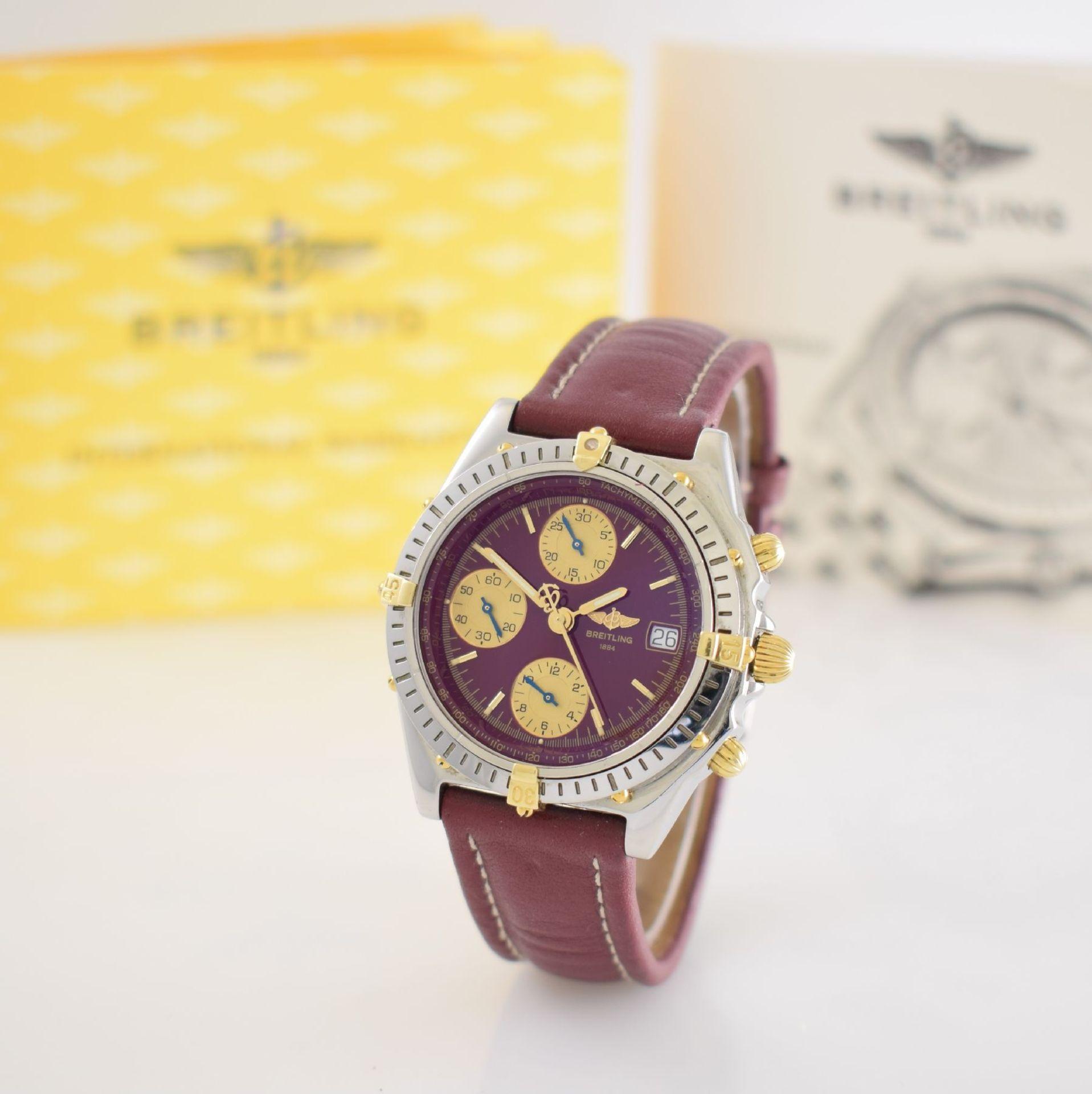 BREITLING Chronomat Herrenarmbanduhr mit Chronograph, Schweiz verk. lt. beil orig. Garantiekarte - Bild 4 aus 8