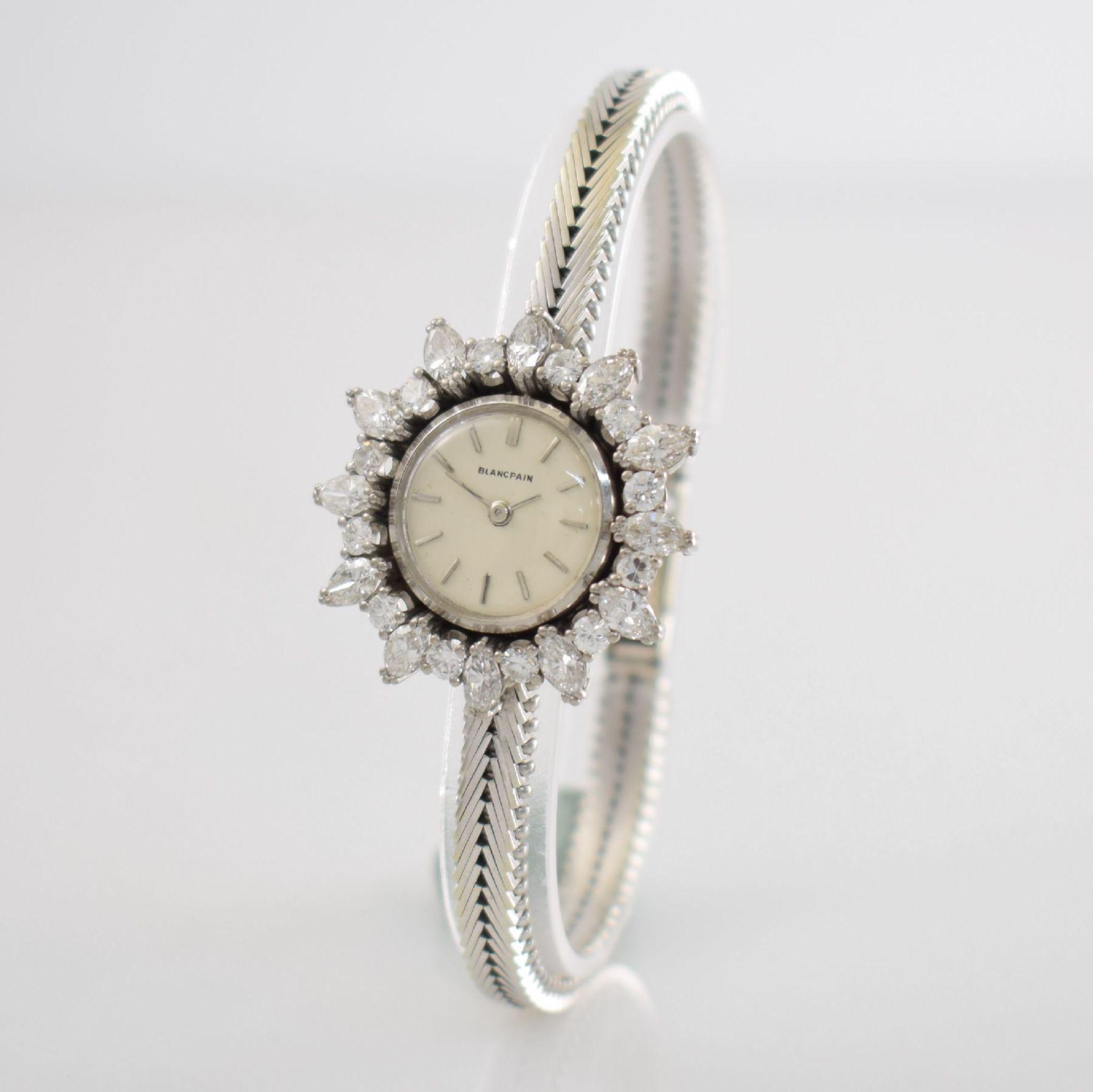BLANCPAIN ausgefallene Damenarmbanduhr in WG 750/000 mit Diamantenbesatz zus. ca. 2,5 ct, Schweiz - Bild 3 aus 8