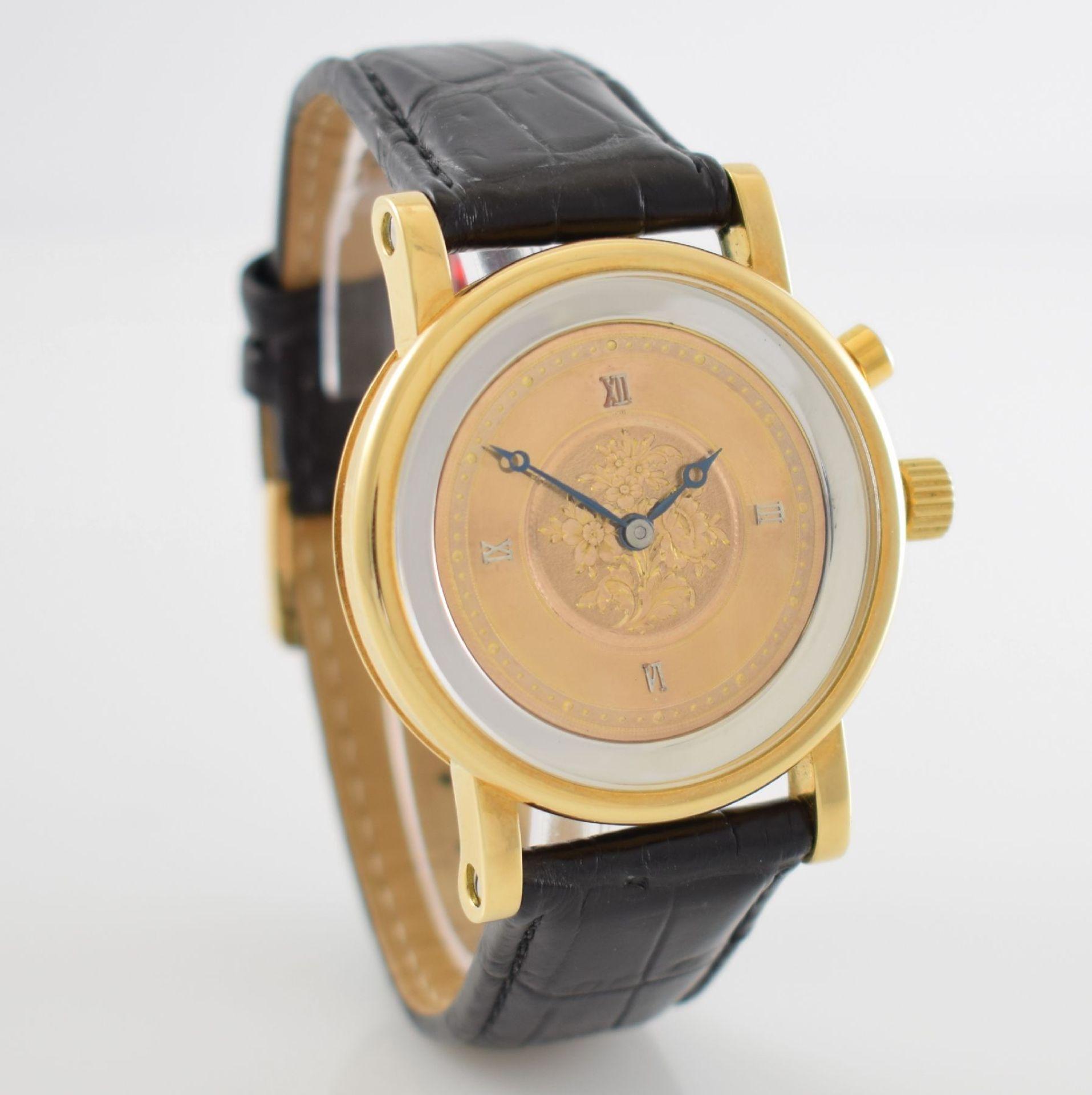 Taschenuhrwerk mit 1/4 Repetition umgebaut zur Armbanduhr in GG 750/000 Gehäuse, Handaufzug, - Bild 5 aus 9