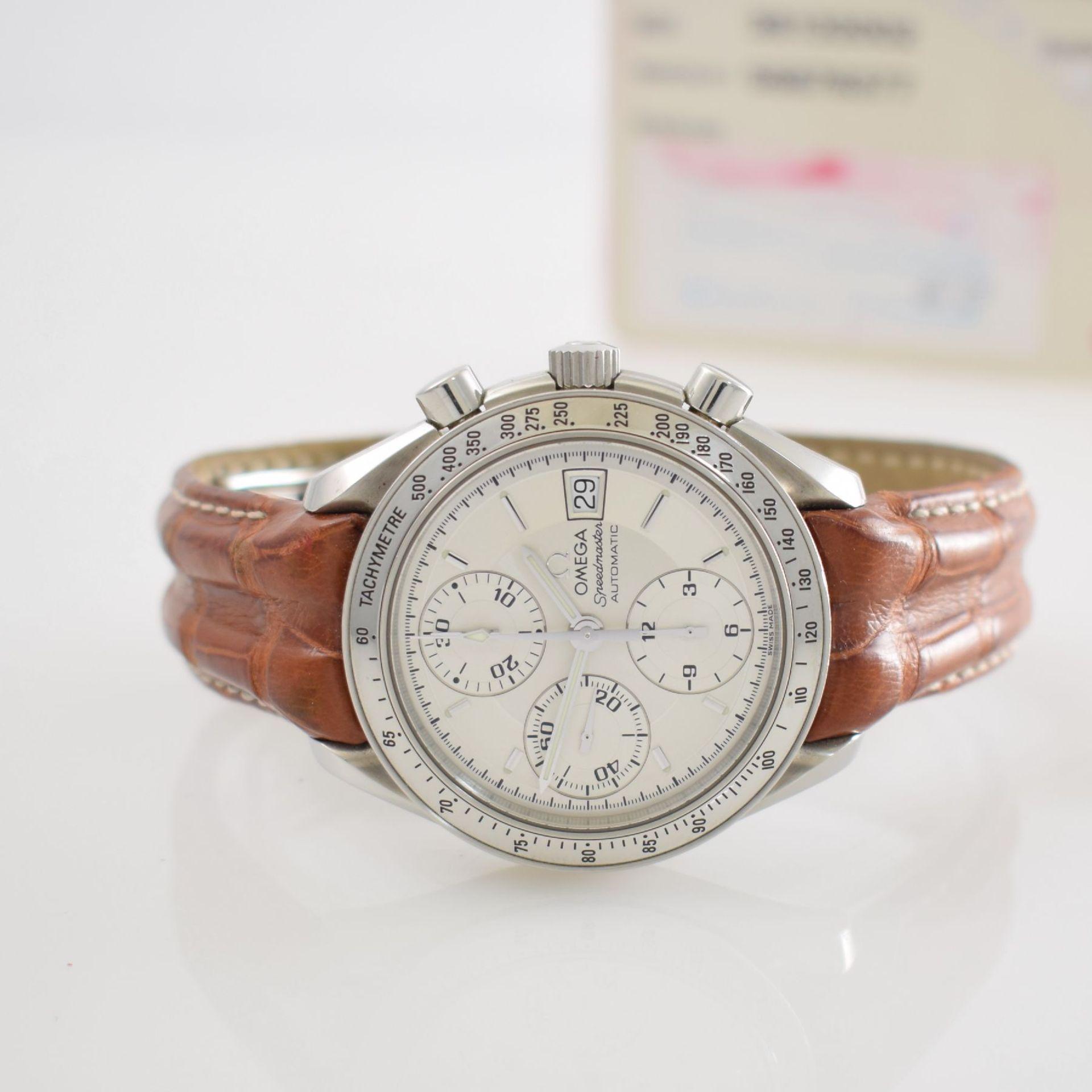 OMEGA Armbandchronograph Serie Speedmaster, Automatik, Schweiz um 1998, Ref. 1750083/3750083, - Bild 2 aus 8