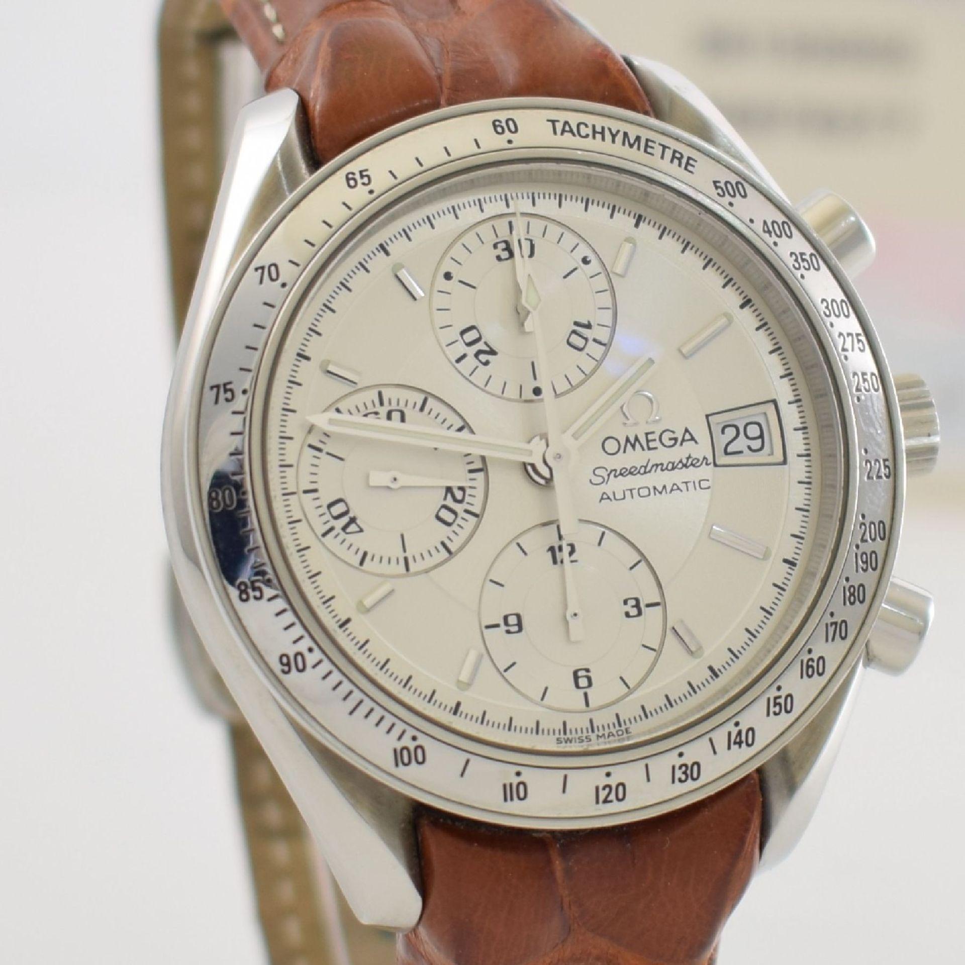 OMEGA Armbandchronograph Serie Speedmaster, Automatik, Schweiz um 1998, Ref. 1750083/3750083, - Bild 7 aus 8