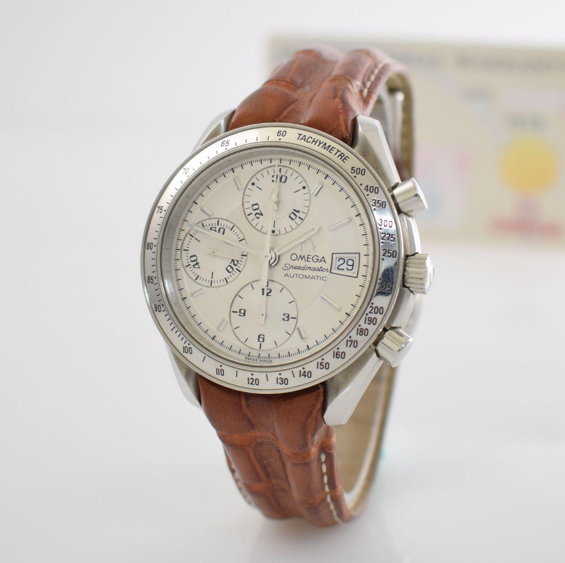 OMEGA Armbandchronograph Serie Speedmaster, Automatik, Schweiz um 1998, Ref. 1750083/3750083, - Bild 4 aus 8
