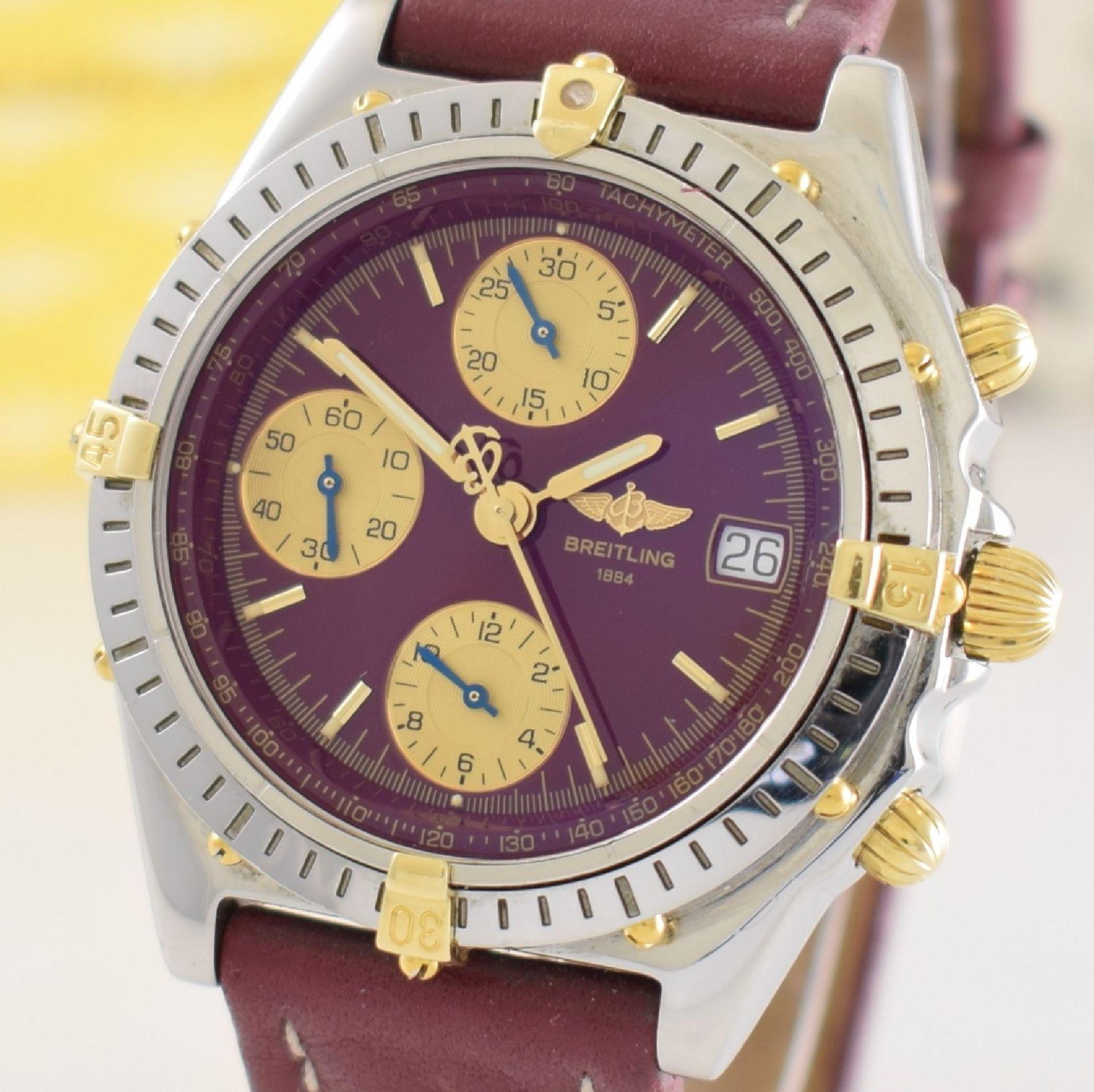 BREITLING Chronomat Herrenarmbanduhr mit Chronograph, Schweiz verk. lt. beil orig. Garantiekarte - Bild 5 aus 8