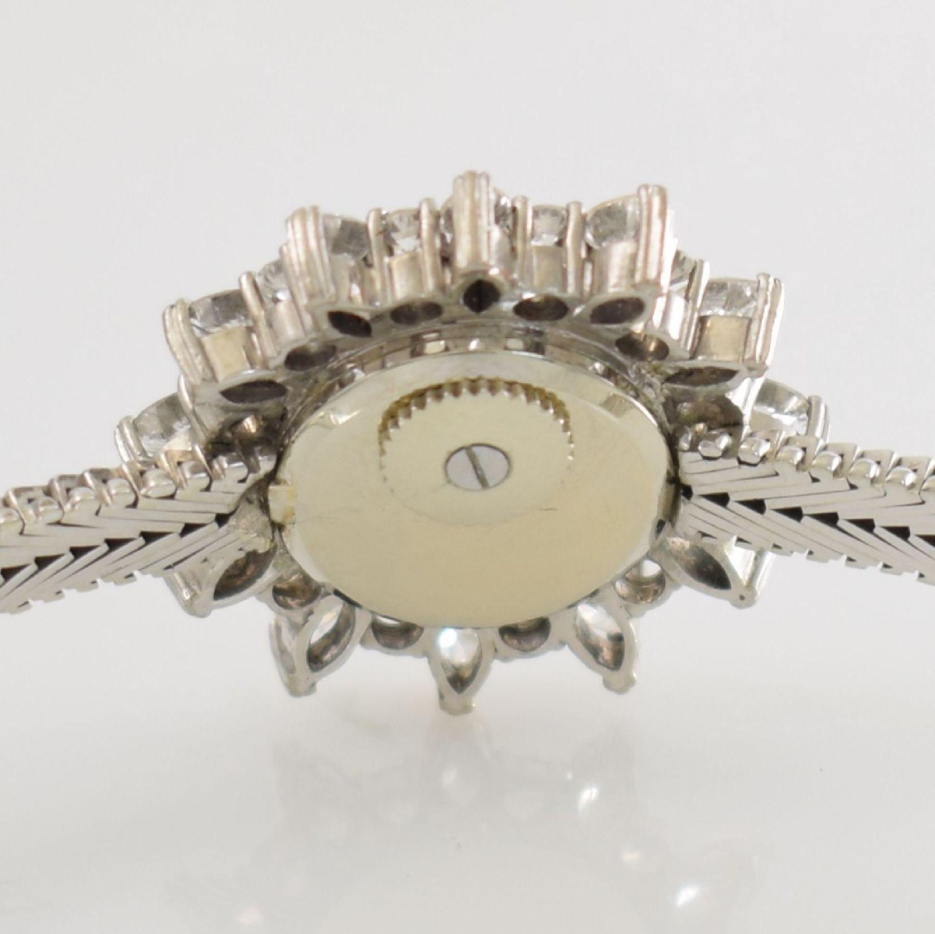 BLANCPAIN ausgefallene Damenarmbanduhr in WG 750/000 mit Diamantenbesatz zus. ca. 2,5 ct, Schweiz - Bild 8 aus 8