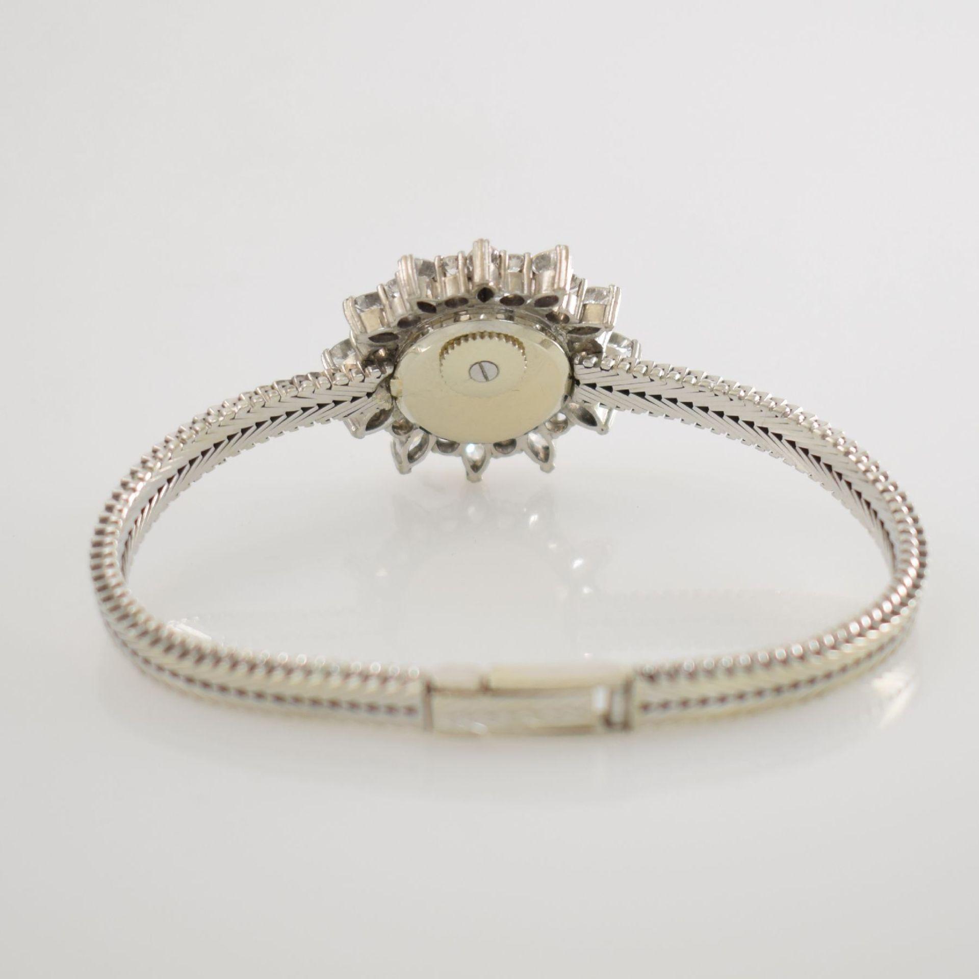 BLANCPAIN ausgefallene Damenarmbanduhr in WG 750/000 mit Diamantenbesatz zus. ca. 2,5 ct, Schweiz - Bild 7 aus 8
