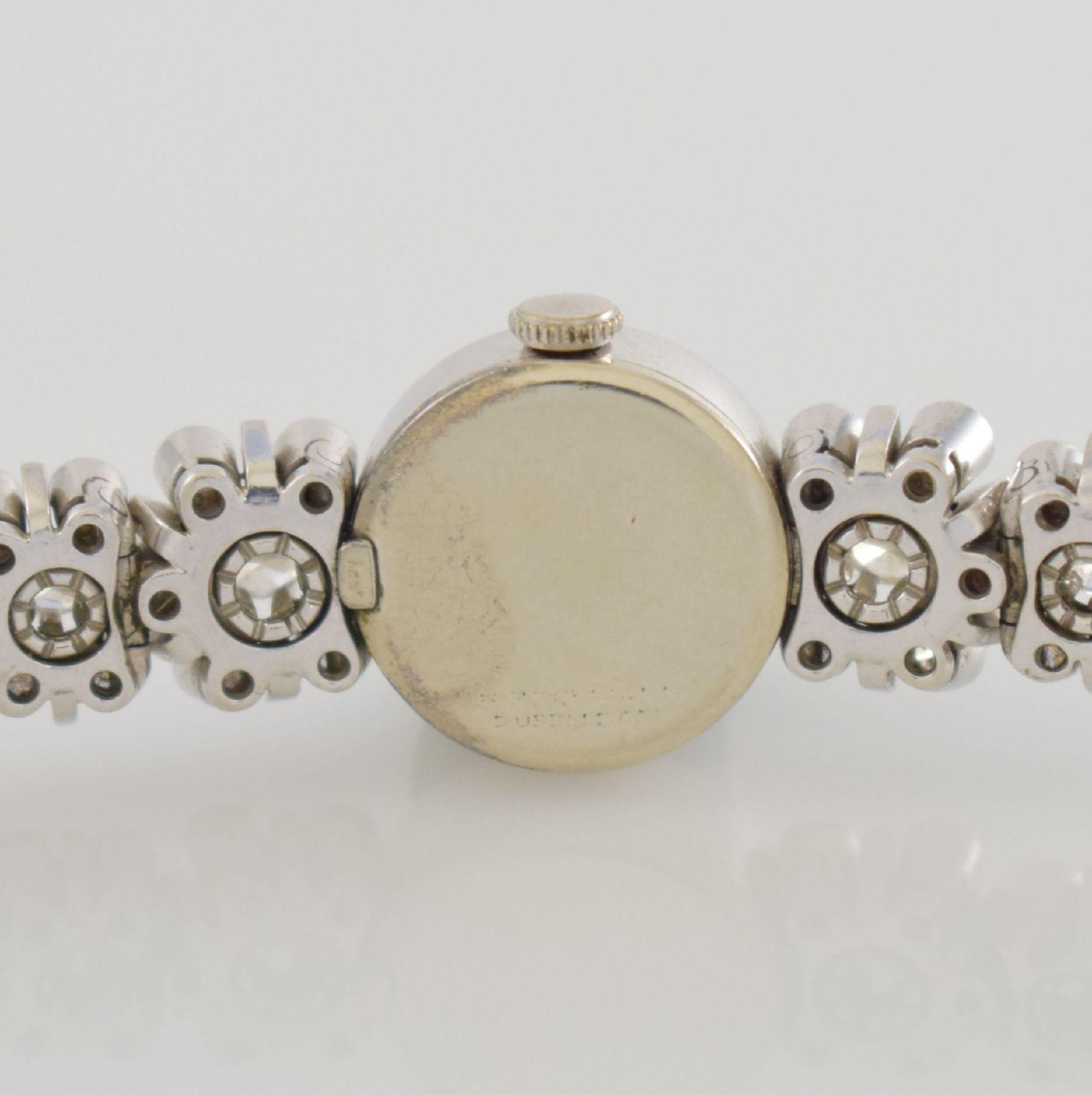 MARVIN Art Deco ausgefallene Damenarmbanduhr in WG 585/000 m. Diamanten zus. ca. 2,50 ct, Schweiz um - Bild 5 aus 5