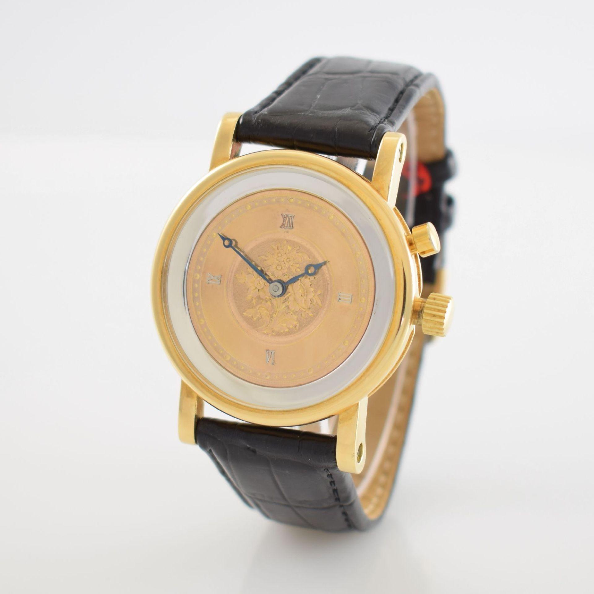 Taschenuhrwerk mit 1/4 Repetition umgebaut zur Armbanduhr in GG 750/000 Gehäuse, Handaufzug, - Bild 3 aus 9