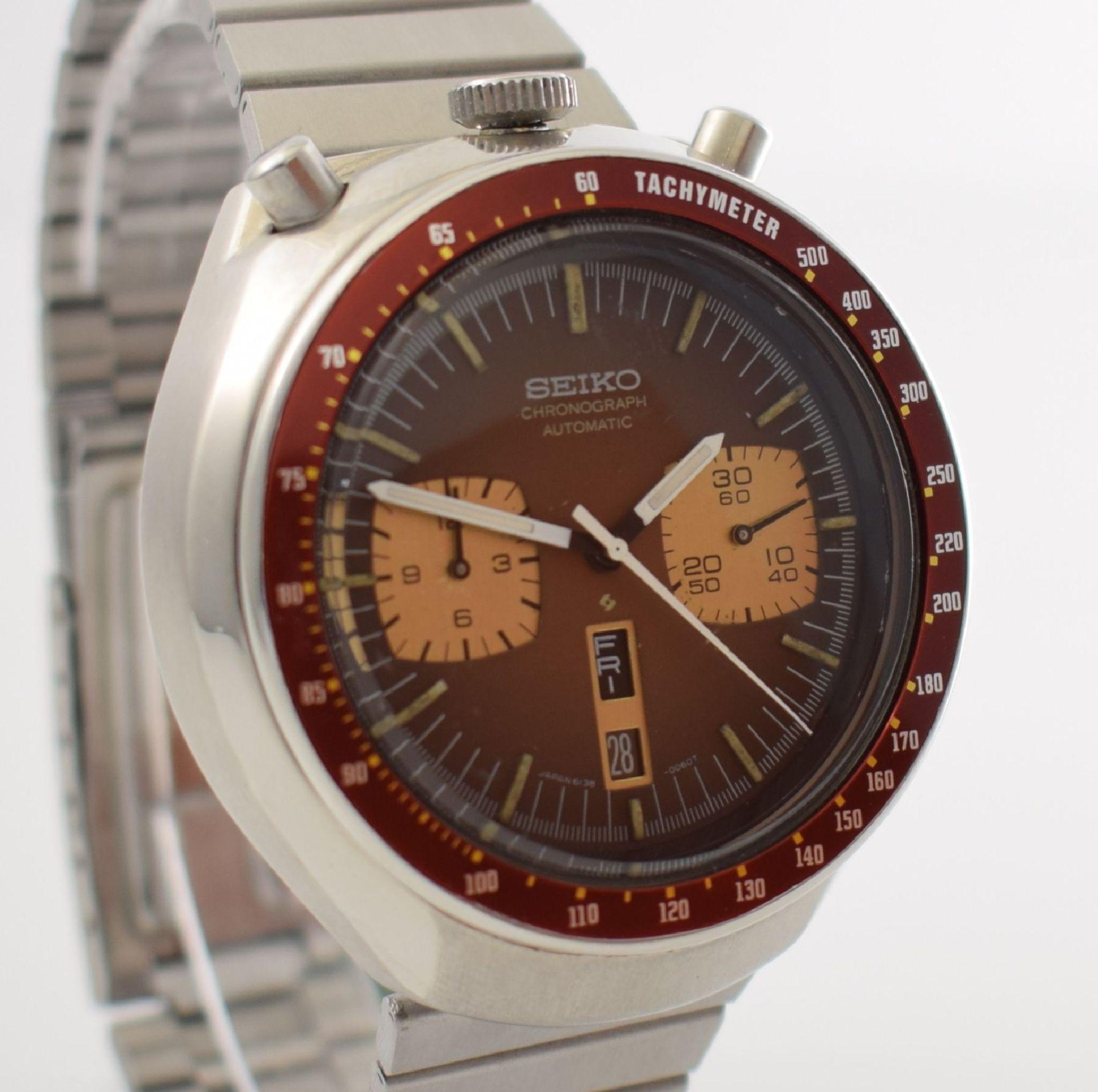 SEIKO sog. BULLHEAD Armbandchronograph, Japan um 1970, Automatik, Ref. 6138-0040, verschr. - Bild 6 aus 7