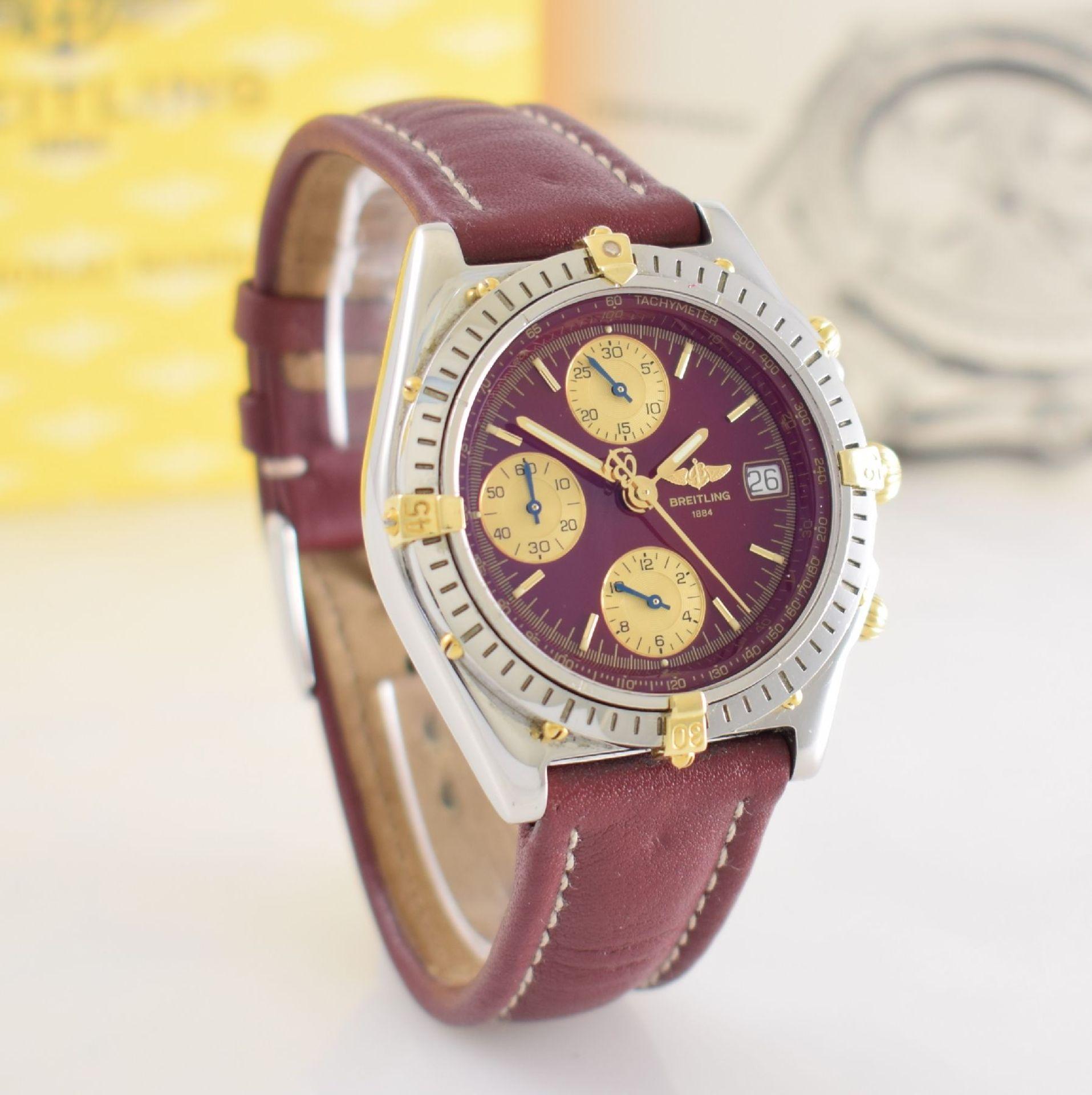 BREITLING Chronomat Herrenarmbanduhr mit Chronograph, Schweiz verk. lt. beil orig. Garantiekarte - Bild 7 aus 8