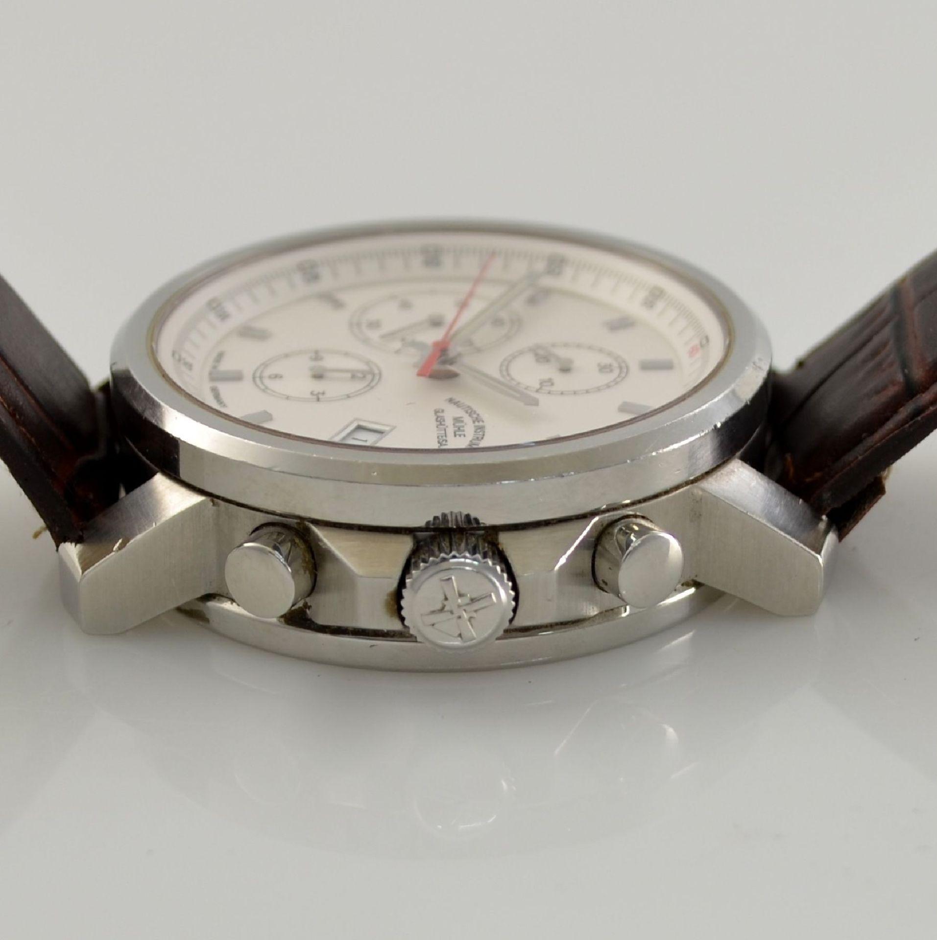 MÜHLE Glashütte/SA Nautische Instrumente Herrenarmbanduhr 29ER Chronograph in Stahl, Deutschland - Bild 4 aus 6