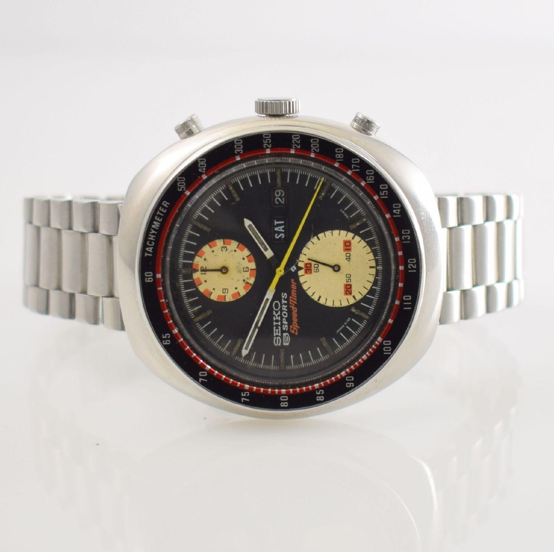 SEIKO 5 Sports Schaltradchronograph Speed-Timer, Automatik, Japan für den dtsch. Markt um 1970, Ref.
