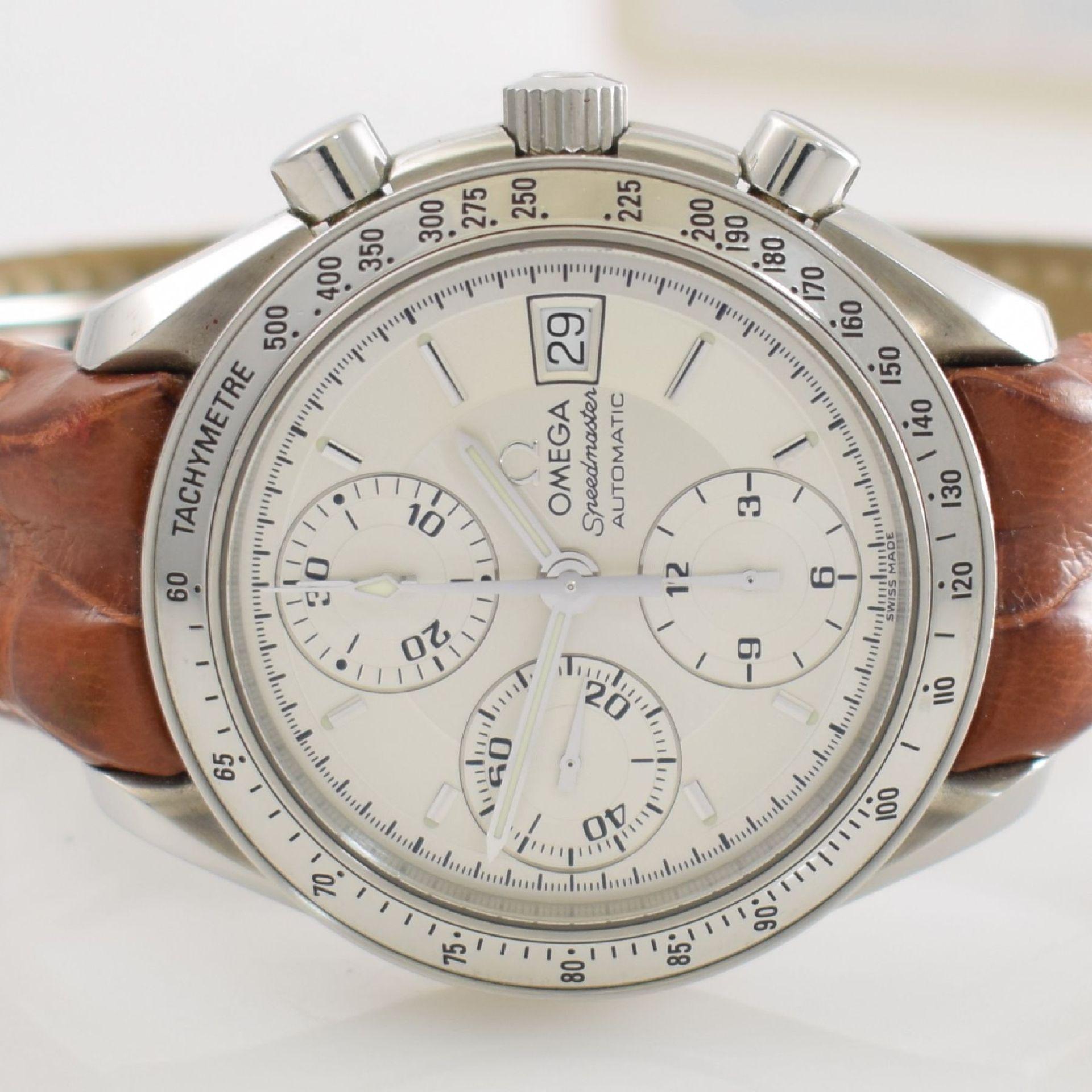 OMEGA Armbandchronograph Serie Speedmaster, Automatik, Schweiz um 1998, Ref. 1750083/3750083, - Bild 3 aus 8