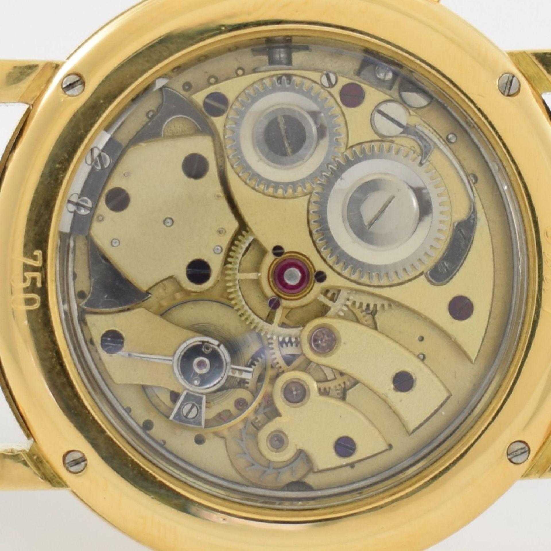 Taschenuhrwerk mit 1/4 Repetition umgebaut zur Armbanduhr in GG 750/000 Gehäuse, Handaufzug, - Bild 8 aus 9