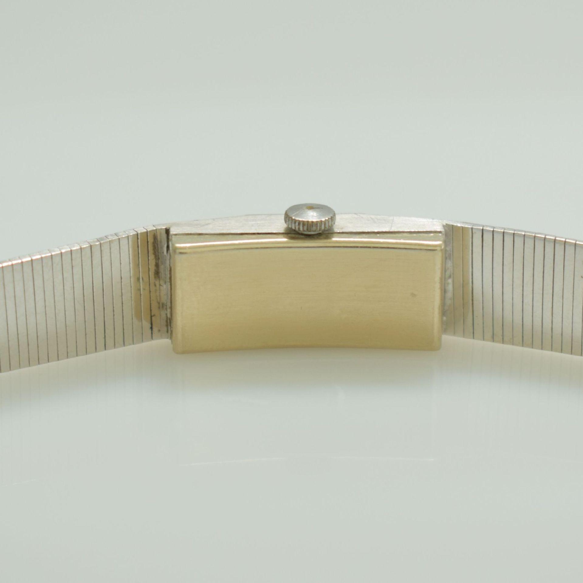 ONSA Damenarmbanduhr in WG 585/000, Schweiz um 1960, Handaufzug, Boden gedr., Band in WG 585/000, - Bild 6 aus 6