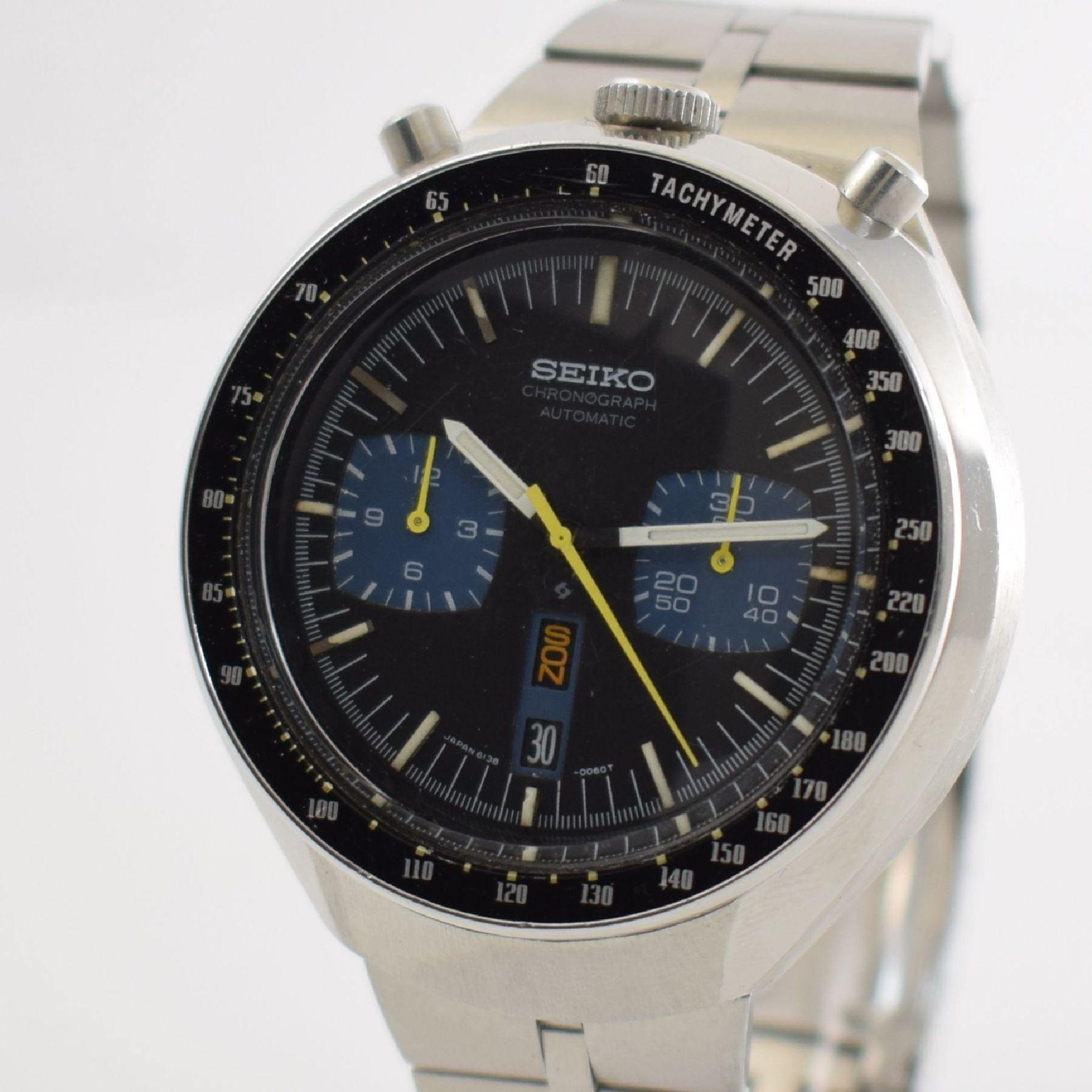 SEIKO sog. BULLHEAD Armbandchronograph, Japan um 1970, Automatik, Ref. 6138-0040, verschr. - Bild 4 aus 7