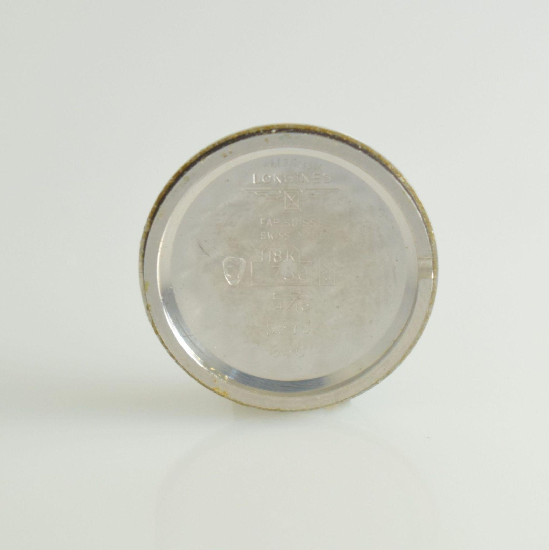 LONGINES Damenarmbanduhr in WG 750/000 mit WG 750/000 Band, Schweiz um 1980, Boden gedr., silb. - Bild 7 aus 7