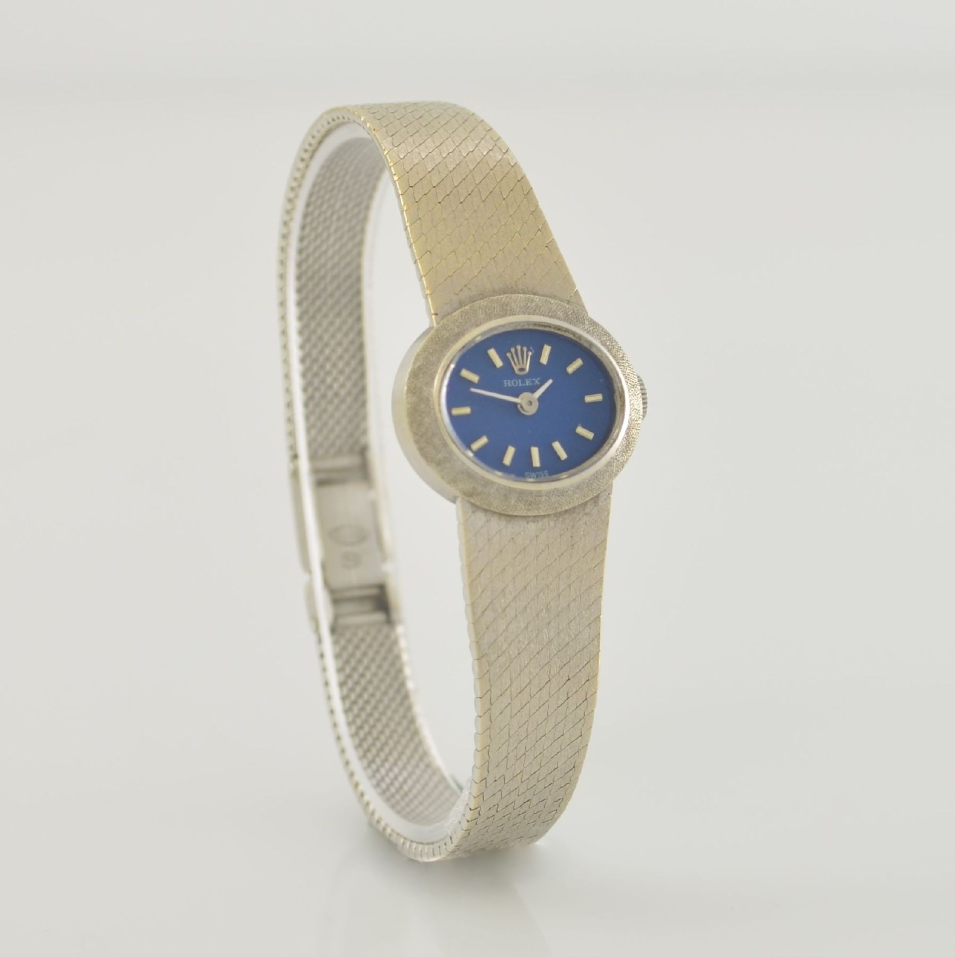 ROLEX Damenarmbanduhr in WG 750/000, Schweiz 1960er Jahre, Handaufzug, Boden aufgedr., - Bild 4 aus 6