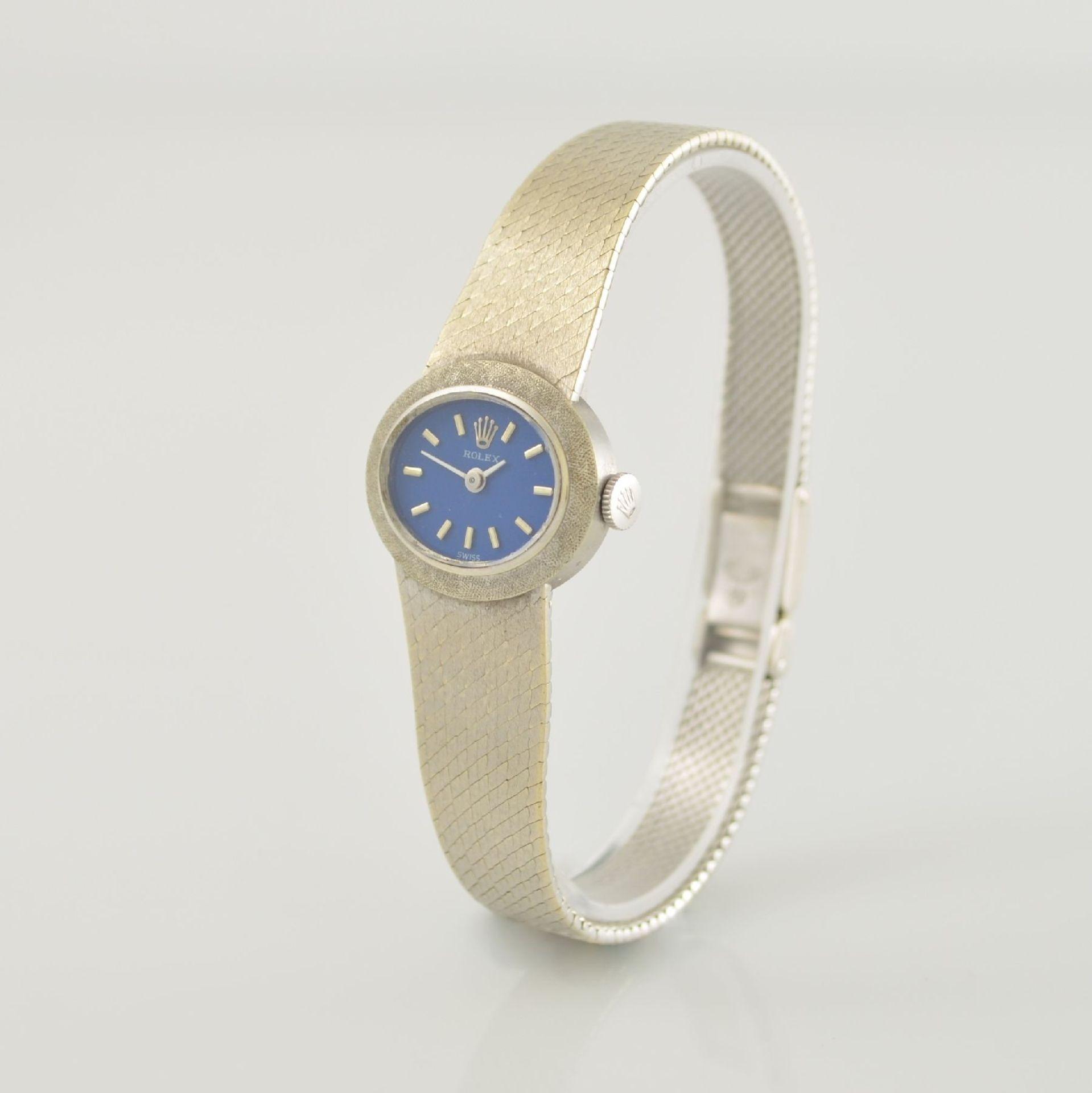ROLEX Damenarmbanduhr in WG 750/000, Schweiz 1960er Jahre, Handaufzug, Boden aufgedr., - Bild 3 aus 6