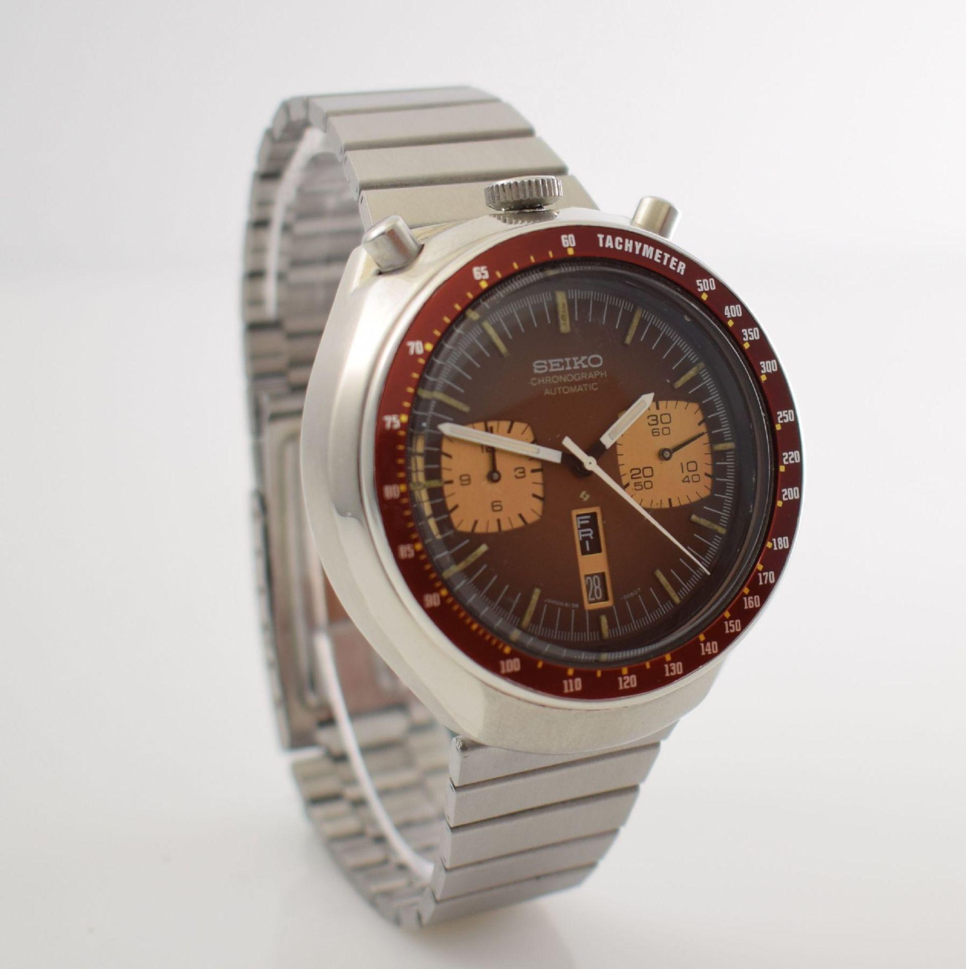 SEIKO sog. BULLHEAD Armbandchronograph, Japan um 1970, Automatik, Ref. 6138-0040, verschr. - Bild 5 aus 7