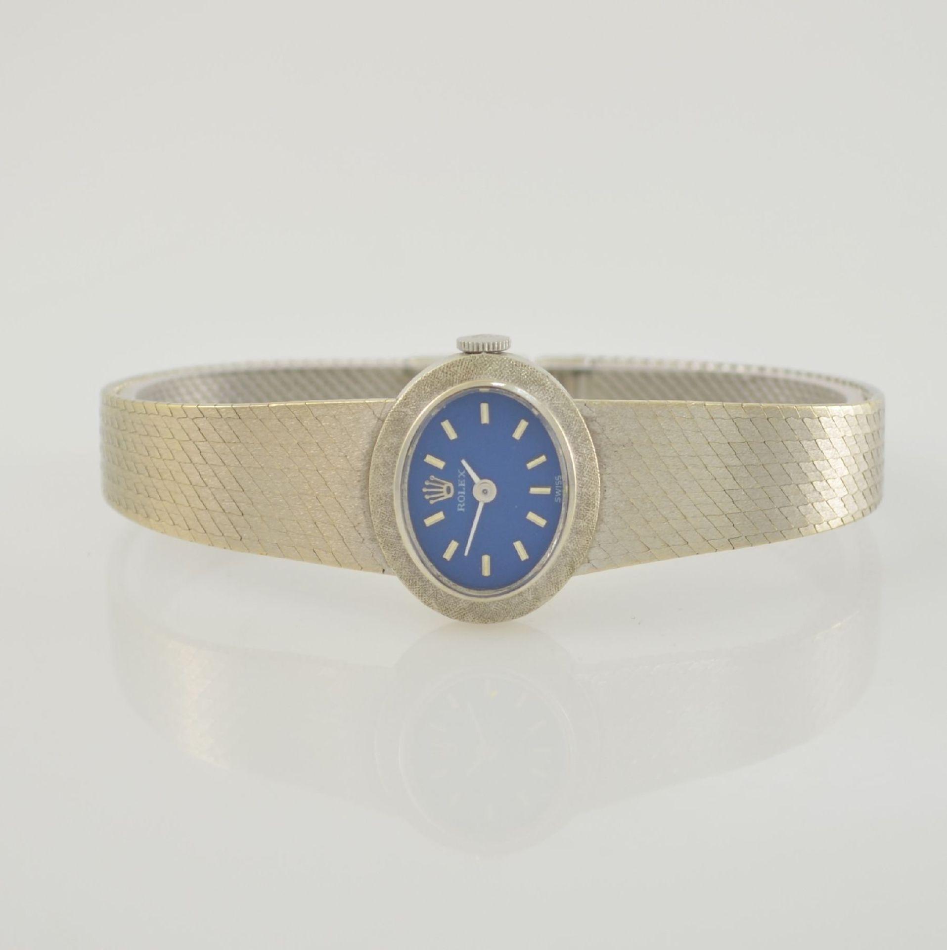 ROLEX Damenarmbanduhr in WG 750/000, Schweiz 1960er Jahre, Handaufzug, Boden aufgedr.,