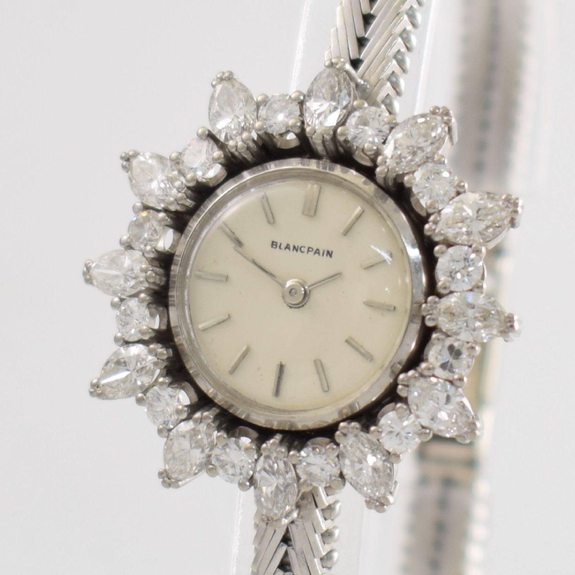 BLANCPAIN ausgefallene Damenarmbanduhr in WG 750/000 mit Diamantenbesatz zus. ca. 2,5 ct, Schweiz - Bild 4 aus 8