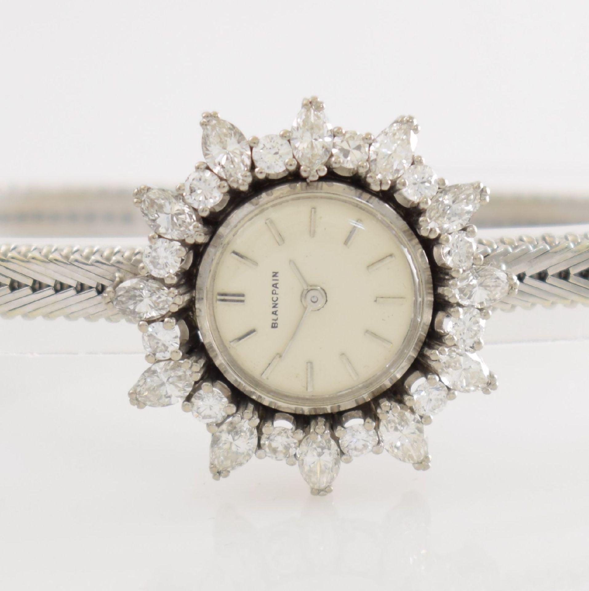BLANCPAIN ausgefallene Damenarmbanduhr in WG 750/000 mit Diamantenbesatz zus. ca. 2,5 ct, Schweiz - Bild 2 aus 8