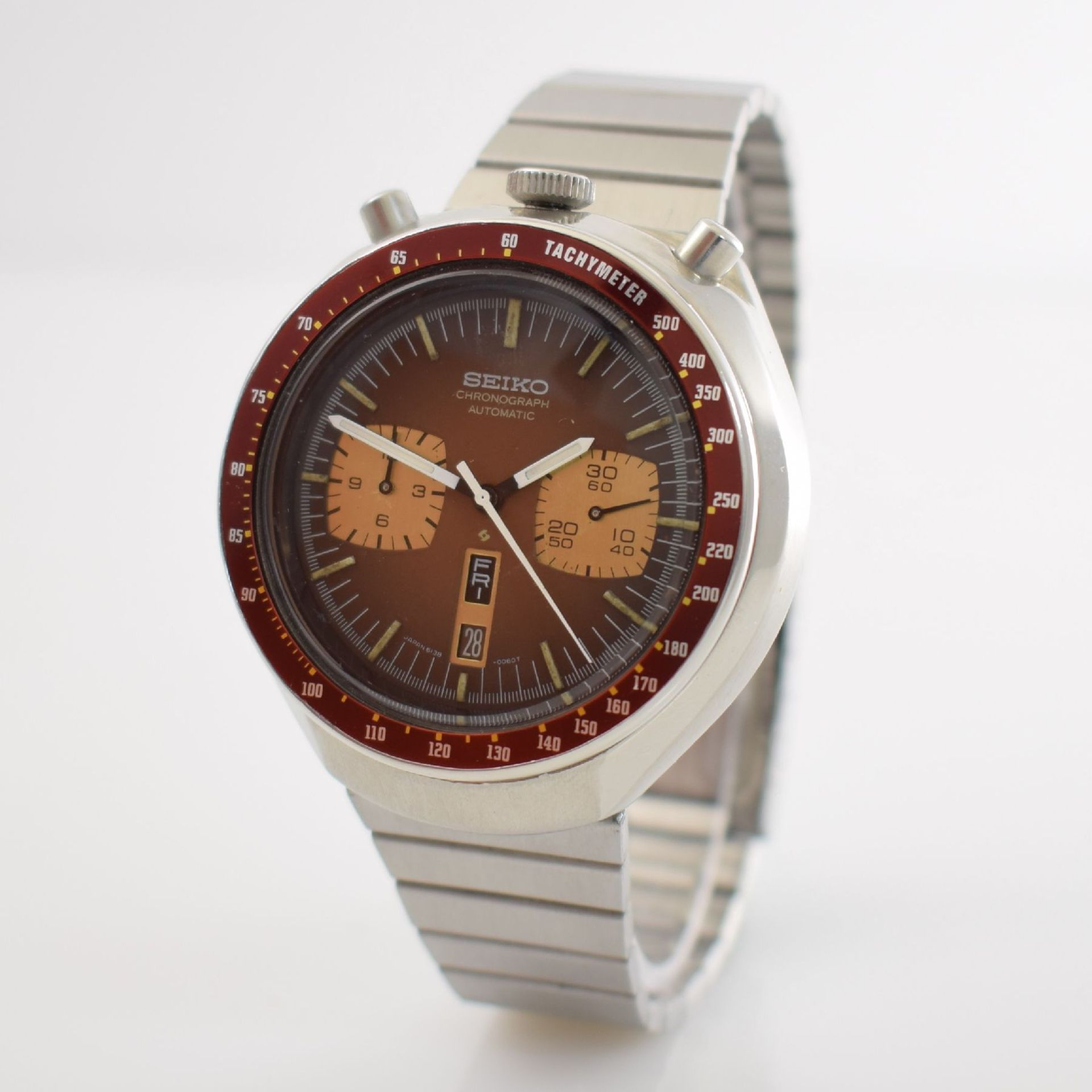 SEIKO sog. BULLHEAD Armbandchronograph, Japan um 1970, Automatik, Ref. 6138-0040, verschr. - Bild 3 aus 7