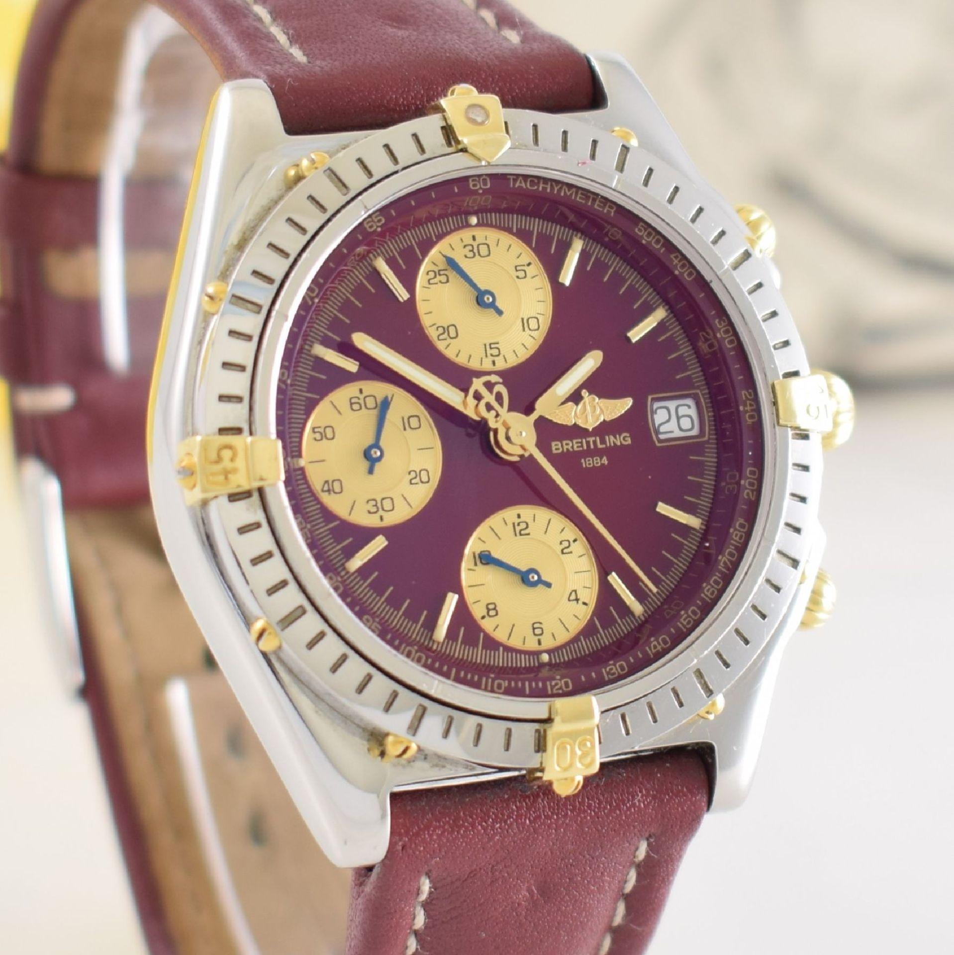 BREITLING Chronomat Herrenarmbanduhr mit Chronograph, Schweiz verk. lt. beil orig. Garantiekarte - Bild 8 aus 8