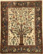 """Neiriz """"Lebensbaum"""" antik, Persien, Datiert: 1318, Wolle auf Baumwolle, ca. 202 x 165 cm,"""
