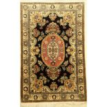 Ghom Seide, Persien, ca. 50 Jahre, Naturseide, ca. 167 x 109 cm, EHZ: 2Qum Silk Rug , Persia,