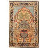 Esfahan fein, Persien, ca. 30 Jahre, Korkwolle mit und auf Seide, ca. 109 x 71 cm, EHZ: 2Fine