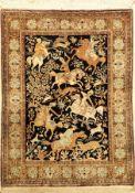 Ghom Seide, Persien, ca. 50 Jahre, reine Naturseide, ca. 153 x 112 cm, EHZ: 2Silk Qum Rug ,