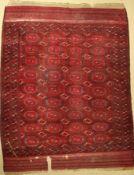 Saryk Hauptteppich antik, Turkmenistan, Ende 19.Jhd., Wolle auf Wolle, ca. 340 x 262 cm, EHZ: 4-
